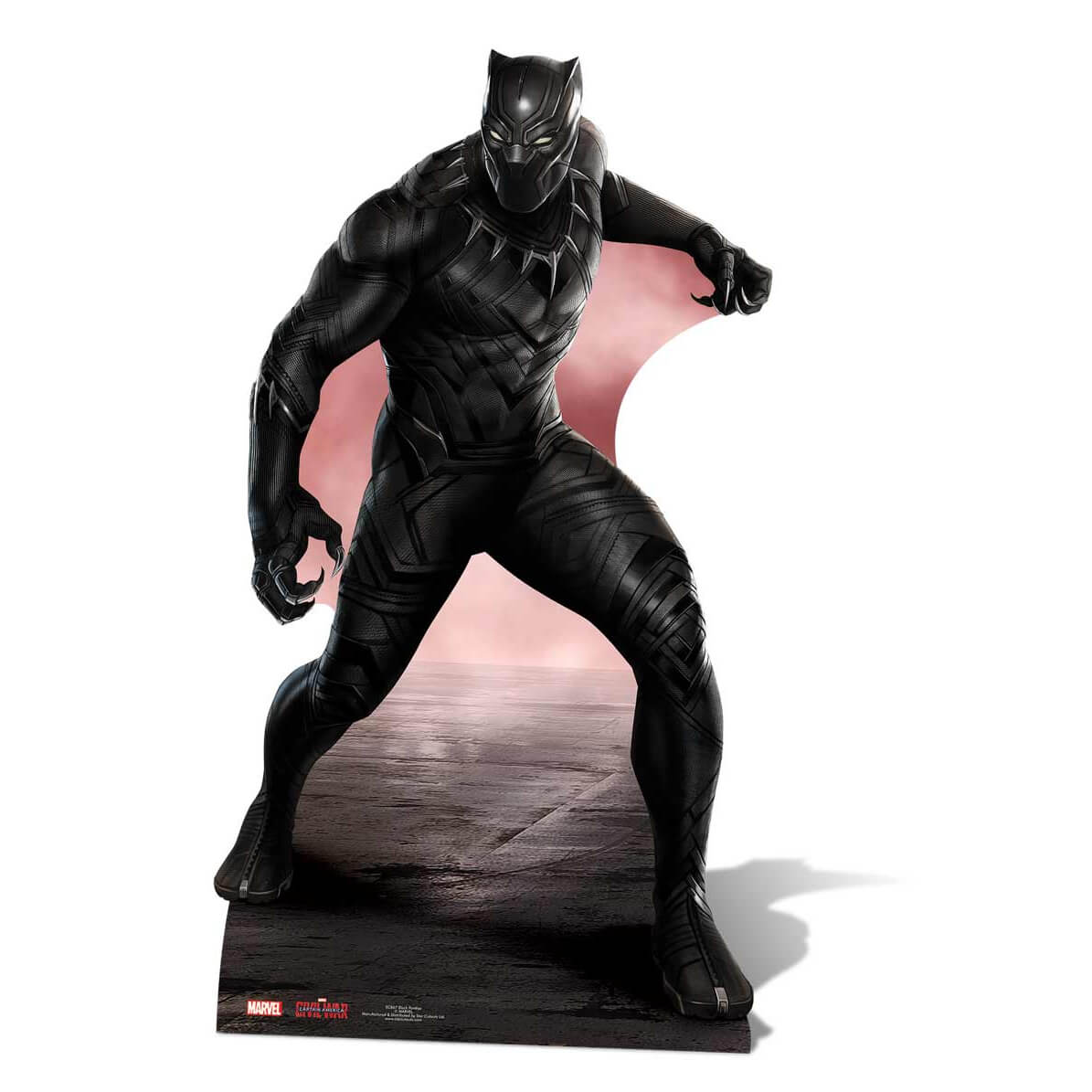 Disney Marvel Captain America: Civil War Black Panther Over Size Cut Out