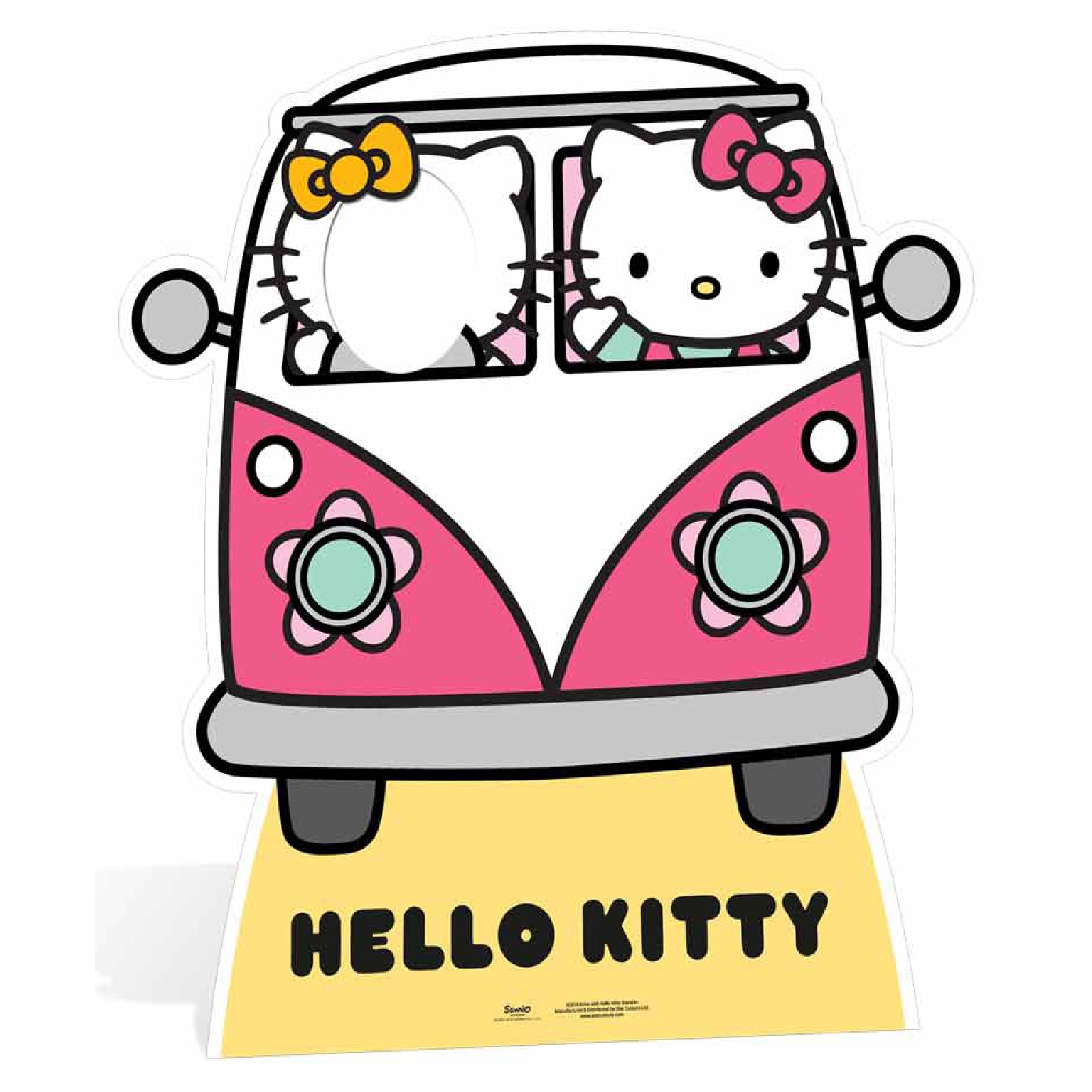 Hello Kitty Campervan Stand In Cut Out