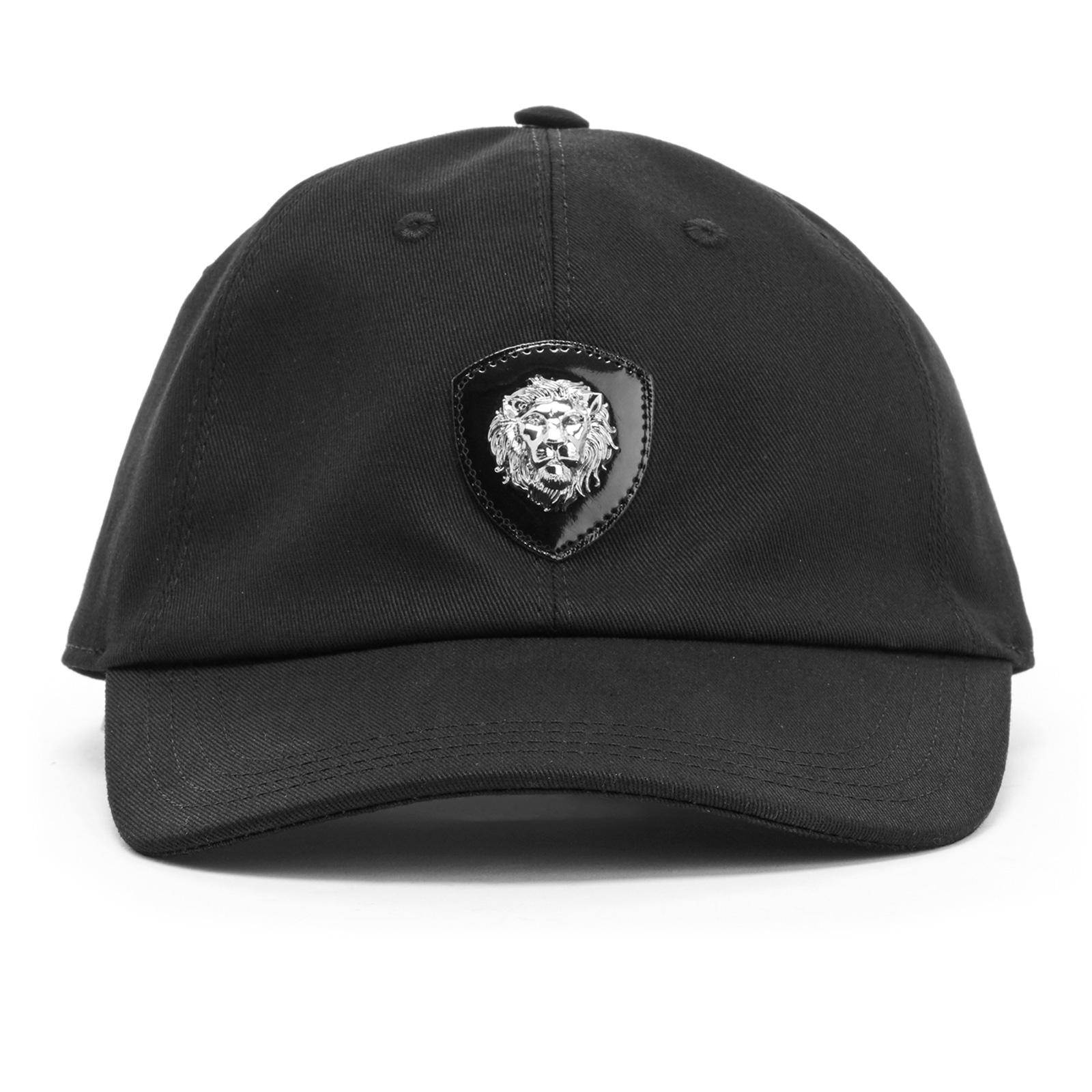 4246819ccdf Versus Versace Men s Lion Logo Cap - Black - Free UK Delivery over £50