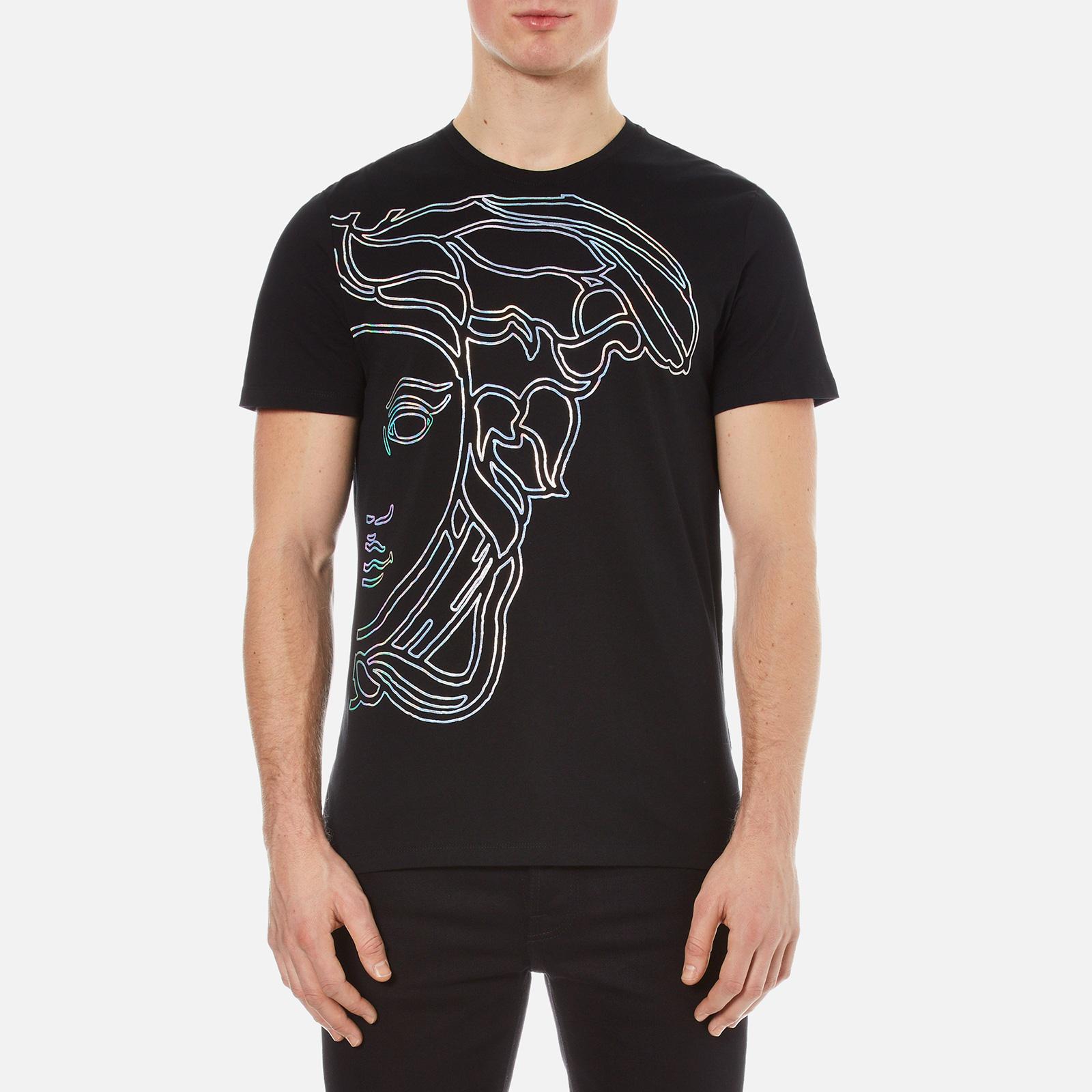 482d3ad4f Versace Collection Men's Large Medusa Logo T-Shirt - Black - Free UK  Delivery over £50