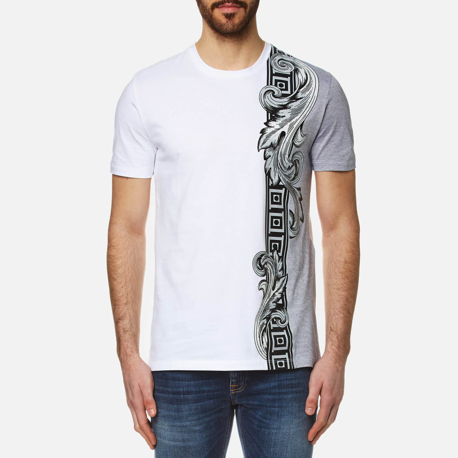 87d334ee254b9 Versace Collection Men s Side Print T-Shirt - White - Free UK Delivery over  £50