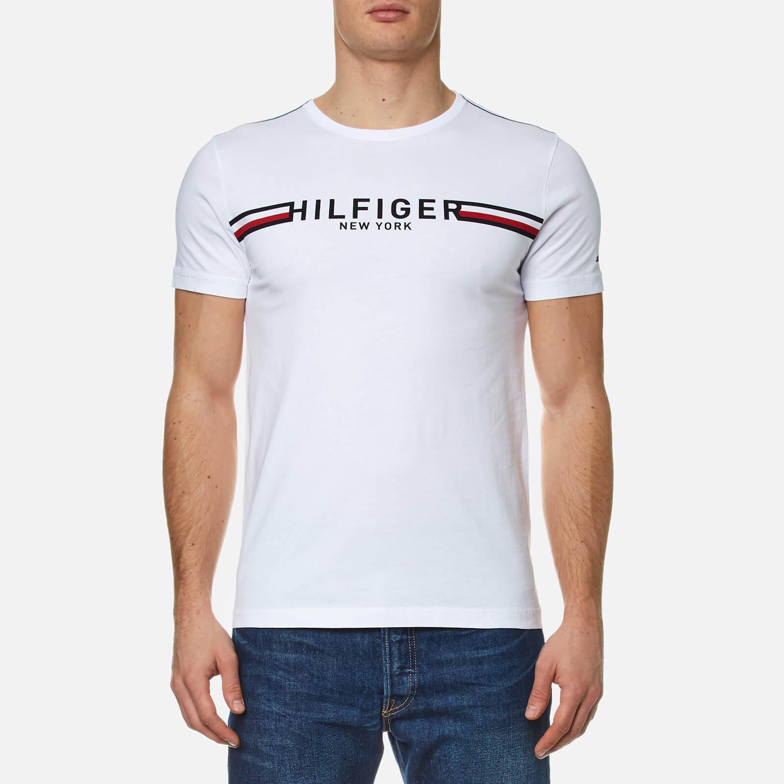 b26bda54fcf Tommy Hilfiger Men s Koby Crew Neck T-Shirt - White Clothing ...