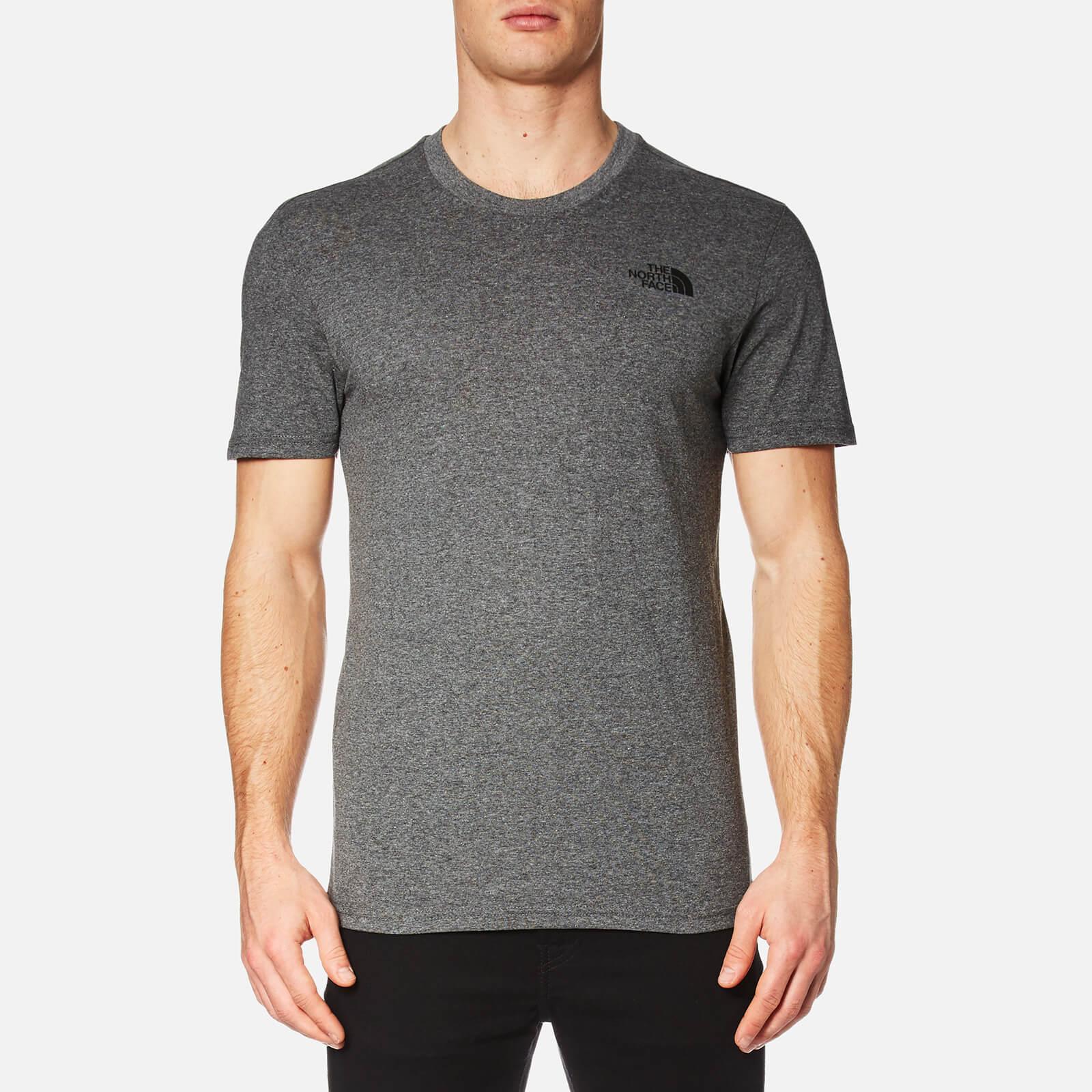 f173b18b The North Face Men's Simple Dome Short Sleeve T-Shirt - Medium Grey Heather  Clothing | TheHut.com