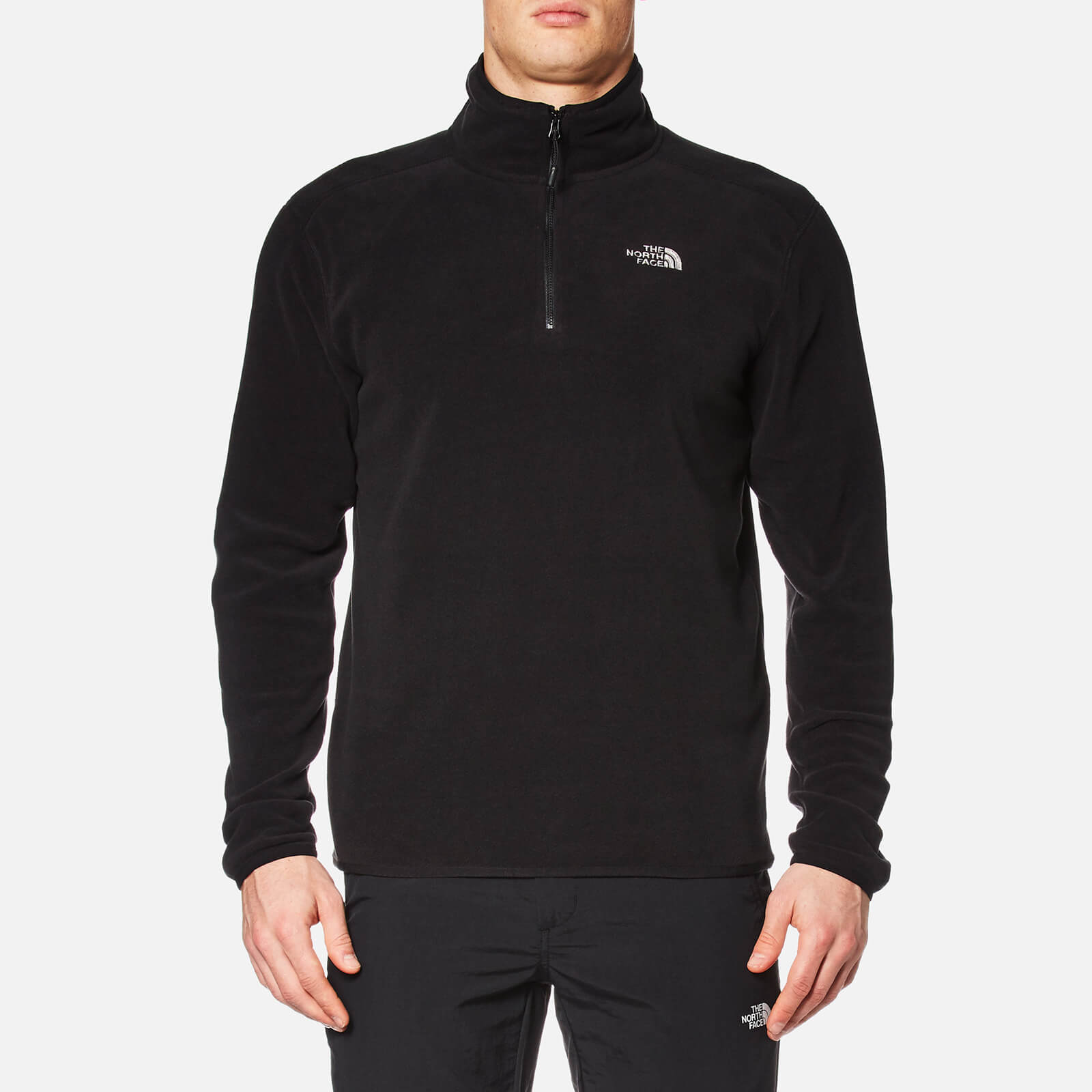 04509faec2b3 The North Face Men s 100 Glacier 1 4 Zip Fleece - TNF Black Clothing ...