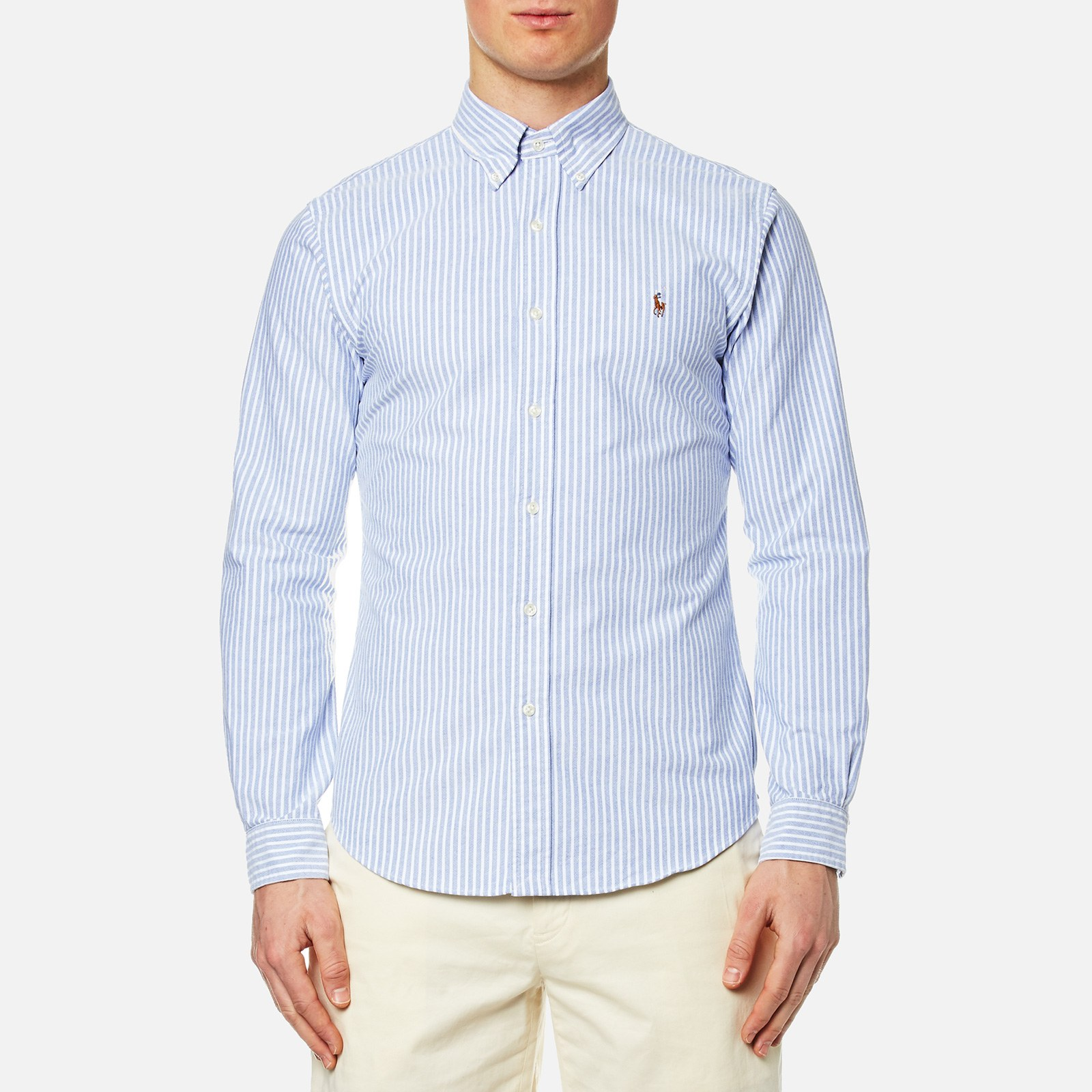 69eba5de5 Polo Ralph Lauren Men s Slim Fit Bengal Stripe Oxford Shirt - Blue White -  Free UK Delivery over £50
