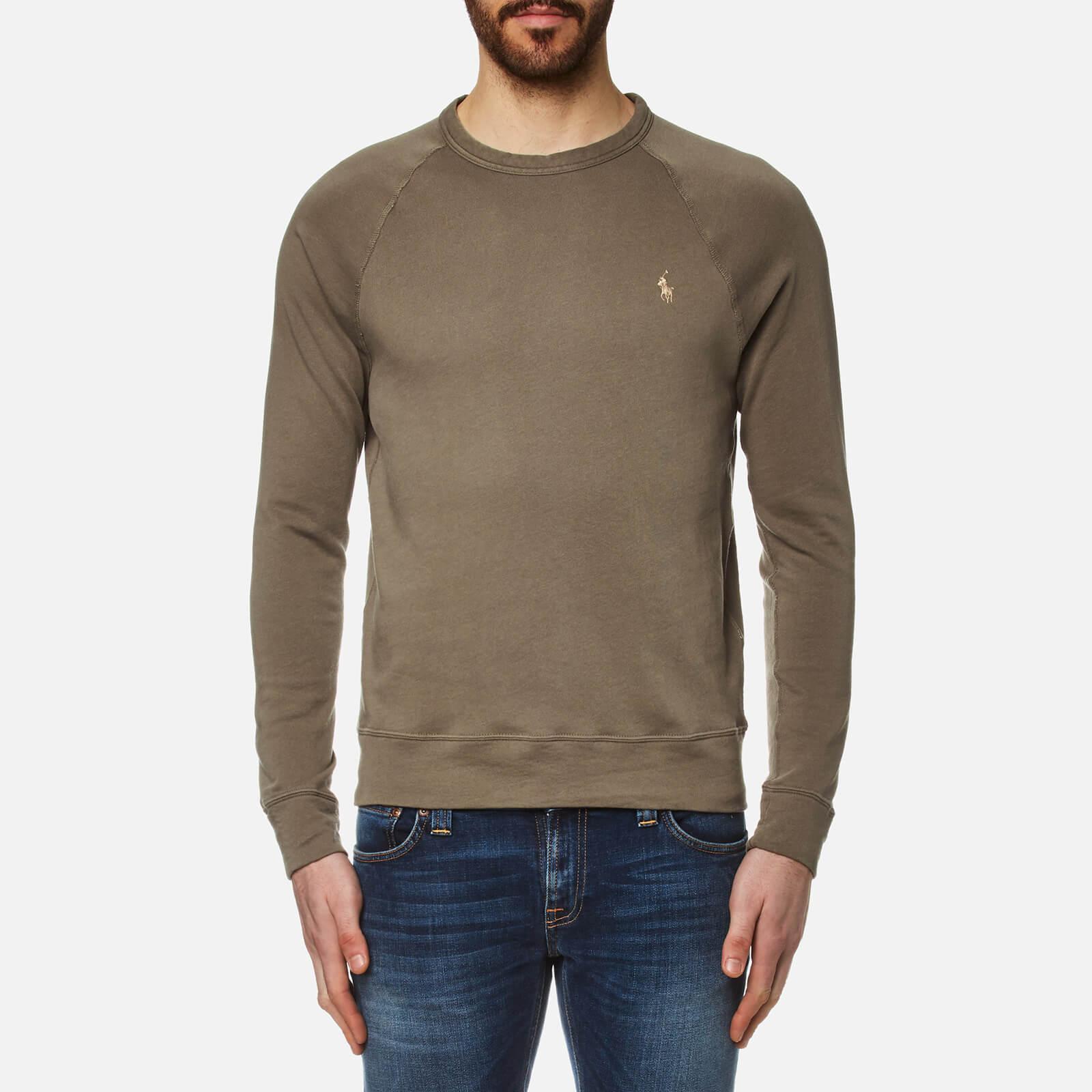 1115aff74e17 Polo Ralph Lauren Men s Crew Neck Sweatshirt - Dark Fatigue - Free UK  Delivery over £50