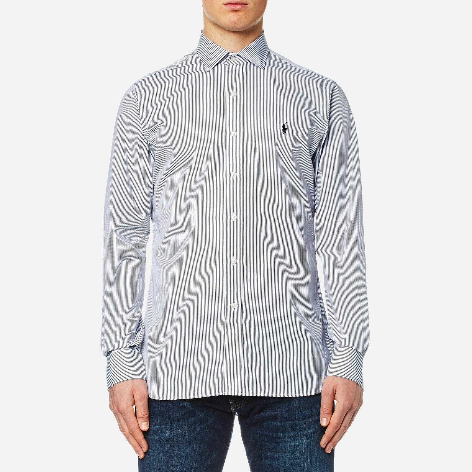 e5109be2 Polo Ralph Lauren Men's Poplin Shirt - White/Black Stripe - Free UK  Delivery over £50