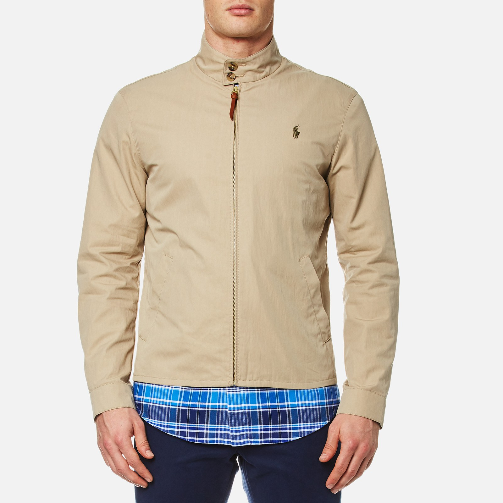 Men's Ralph Harrington Khaki Soft Polo Lauren Jacket uOiPkXZ