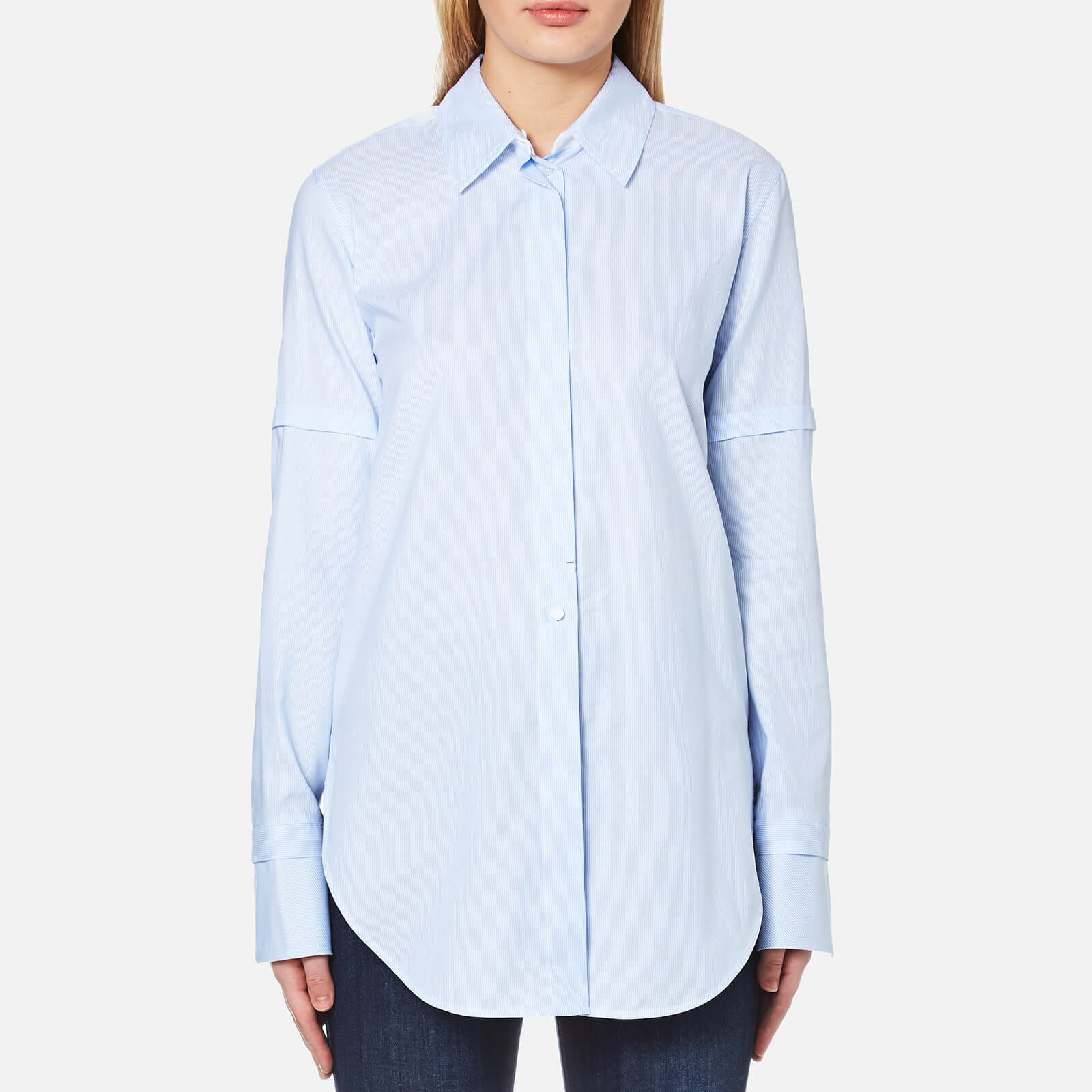 unique style discount collection top-rated fashion Helmut Lang Women's Tuxedo Shirt - Light Blue