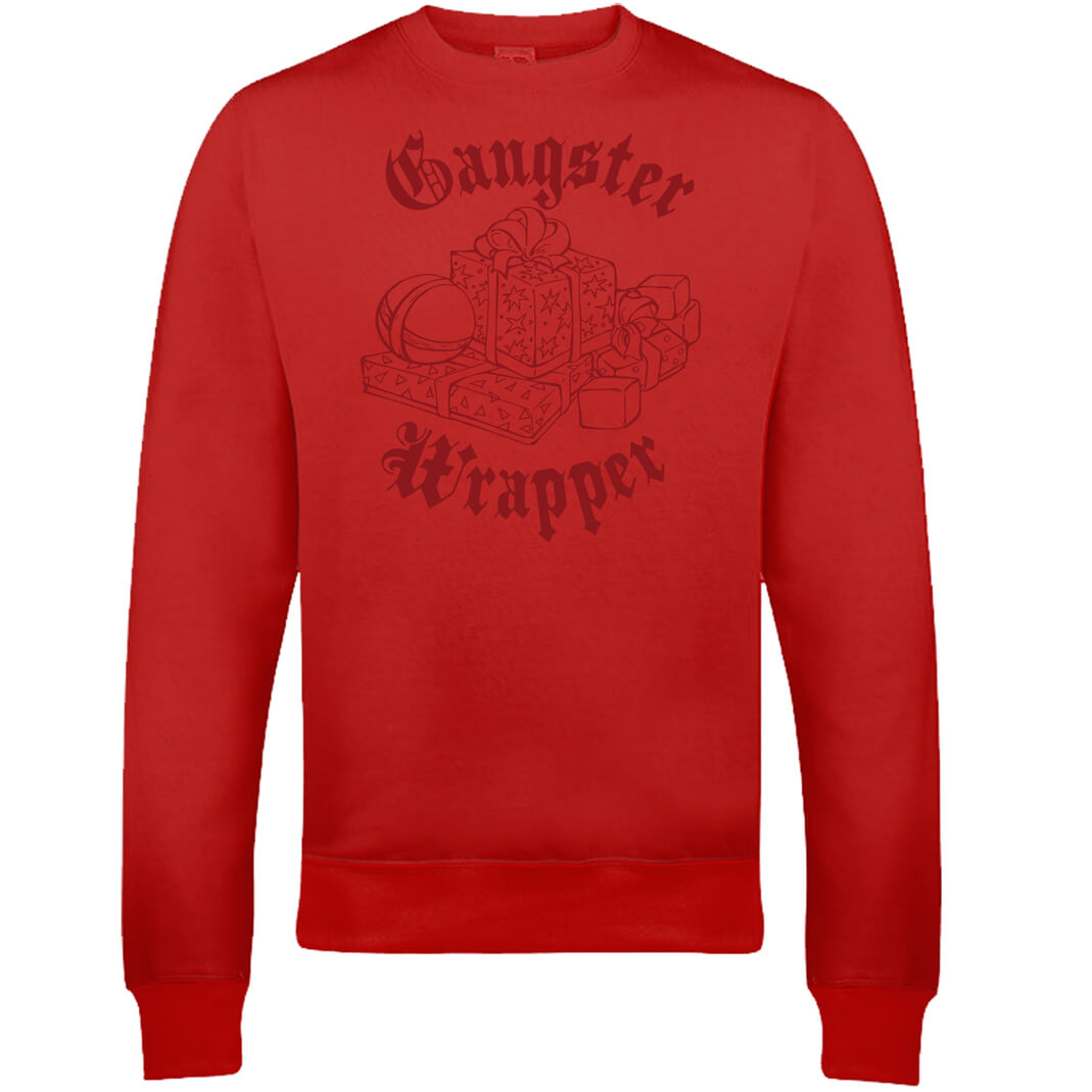 Gangster Wrapper Christmas Sweatshirt - Red