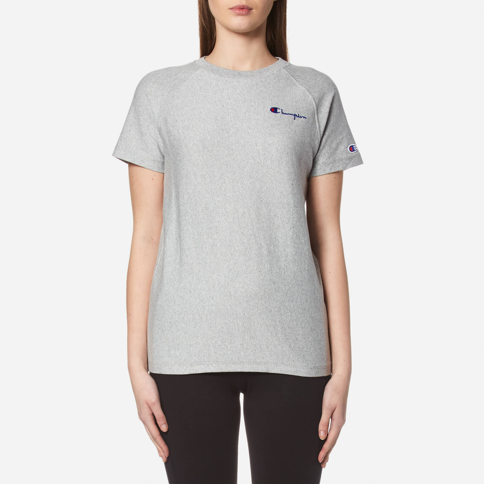 09fa8f4e3d4b Champion Women's Crew Neck T-Shirt - Grey - Free UK Delivery over £50