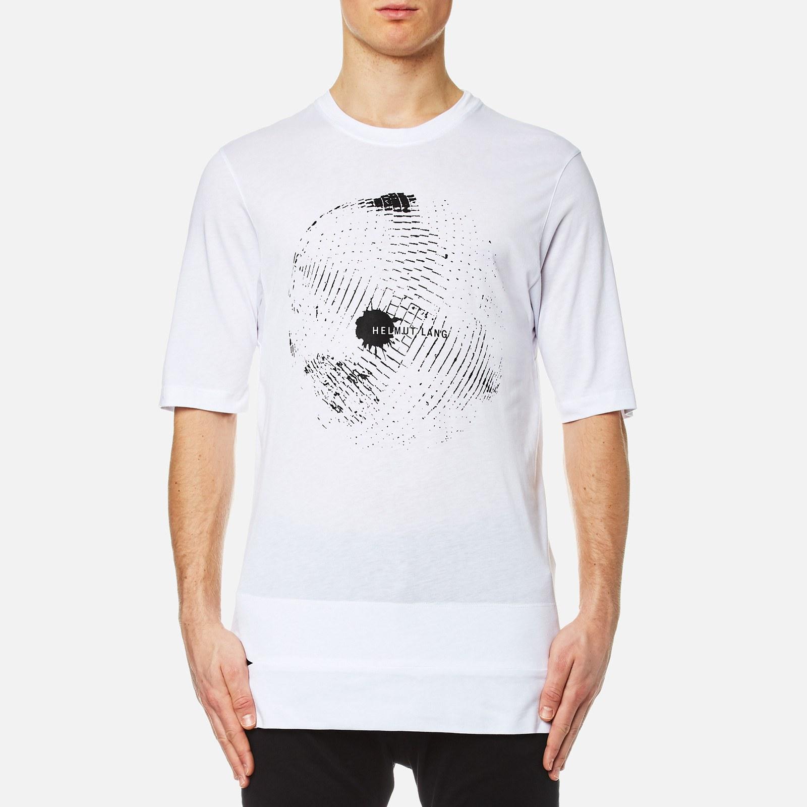 Helmut Lang Men S Disco Ball Print T Shirt Optic White Free Uk