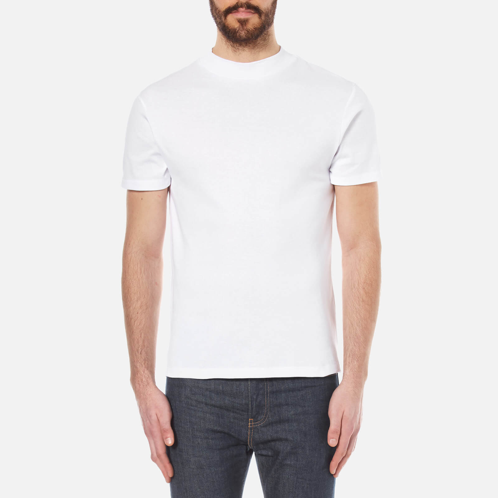 4036ecbd349110 Selected Homme Men's High Neck T-Shirt - Bright White Clothing | TheHut.com