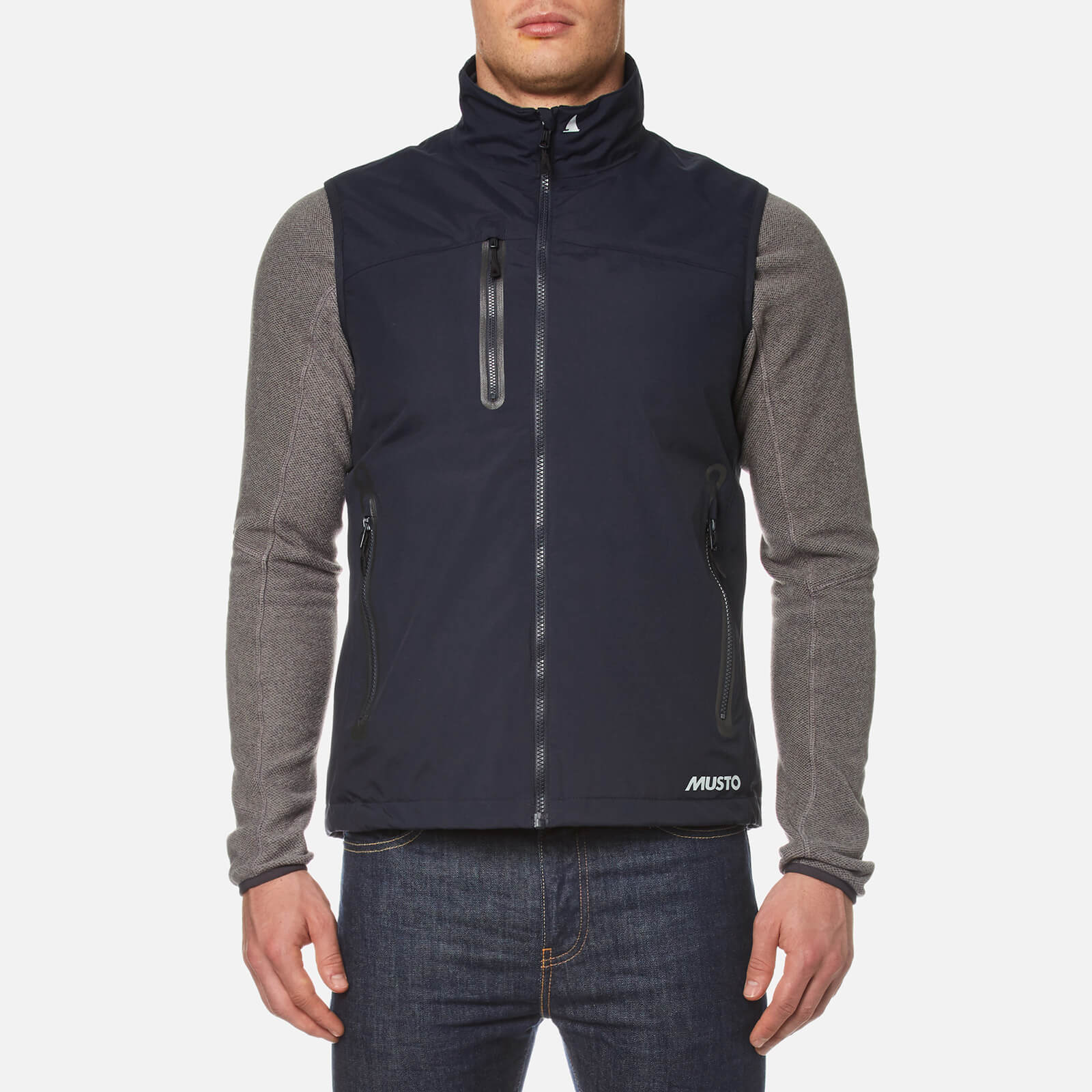 Musto Mens Corsica Waterproof Breathable Fleece Lined Gilet