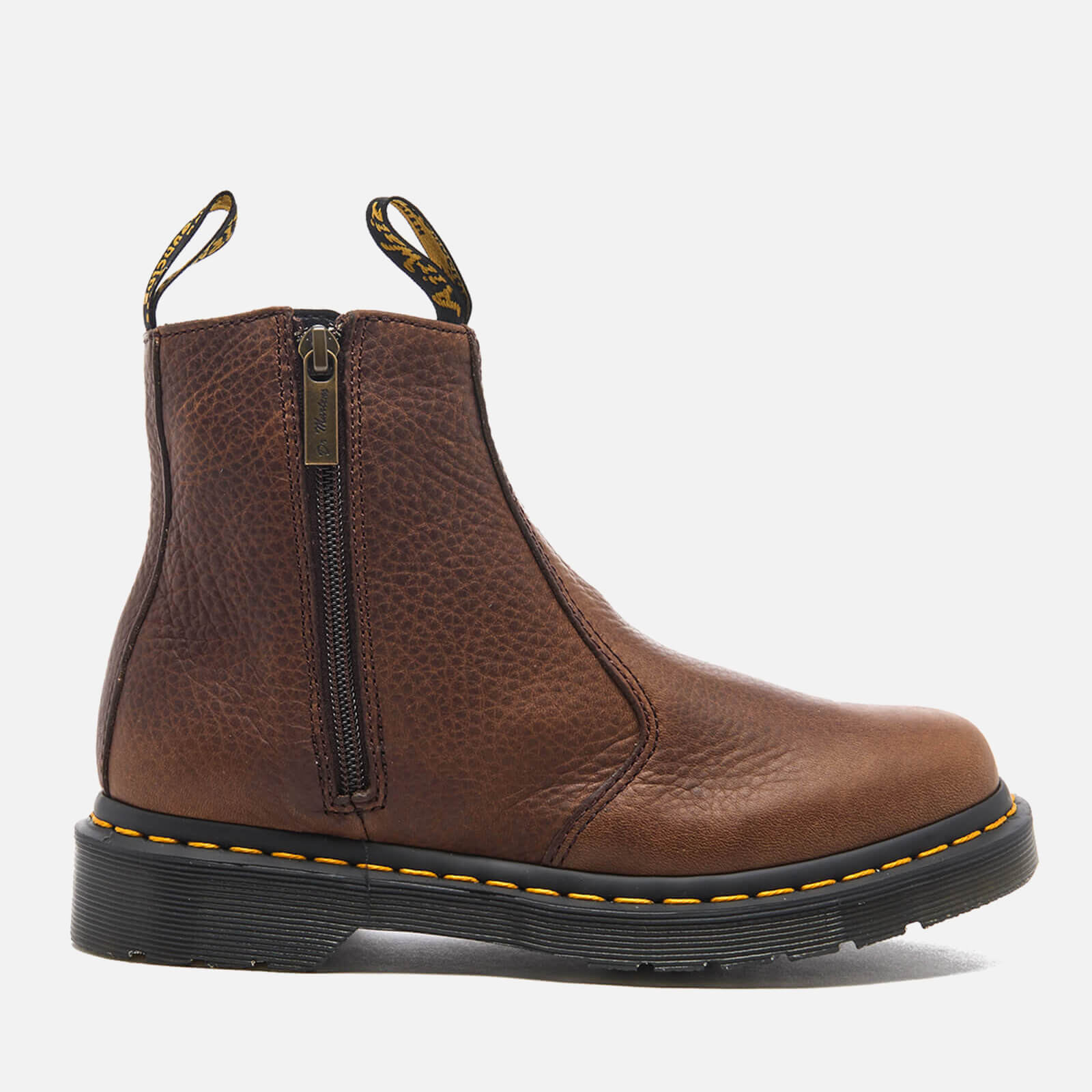 0b51b514fe Dr. Martens Women's 2976 Chelsea Boots with Zips - Dark Brown - Free UK  Delivery over £50