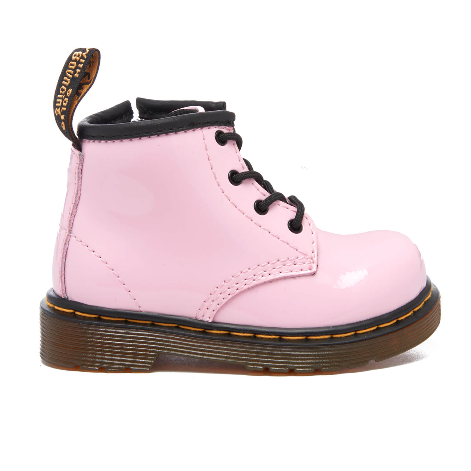 0f380b58baf5e ... Dr. Martens Toddlers' Brooklee B Patent Lamper Lace Boots - Baby Pink