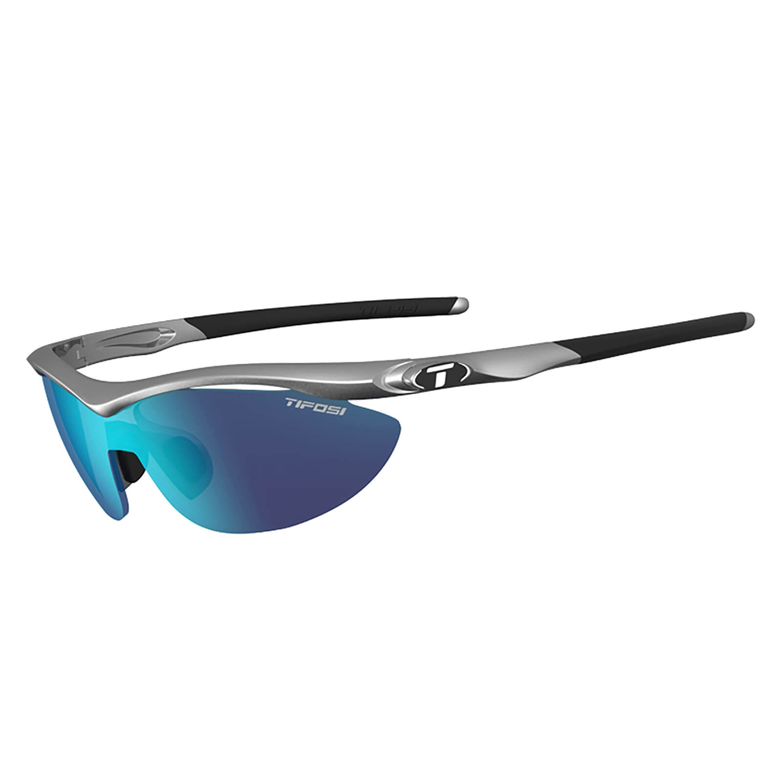 Tifosi Slip Interchangeable Sunglasses - Steel/Clarion Blue