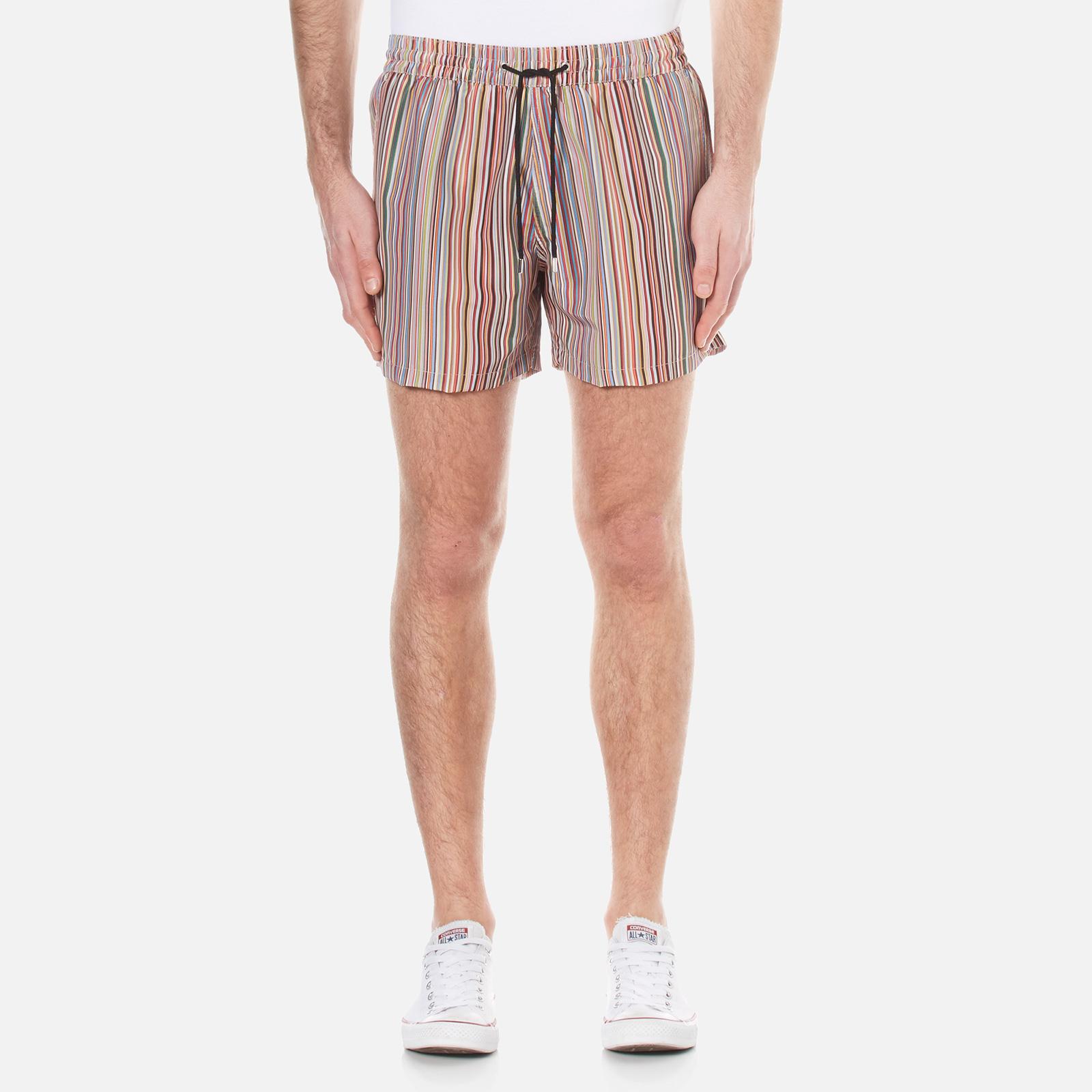 a847a4be2e Paul Smith Men's Classic Multi Stripe Swim Shorts - Multi Stripe - Free UK  Delivery over £50