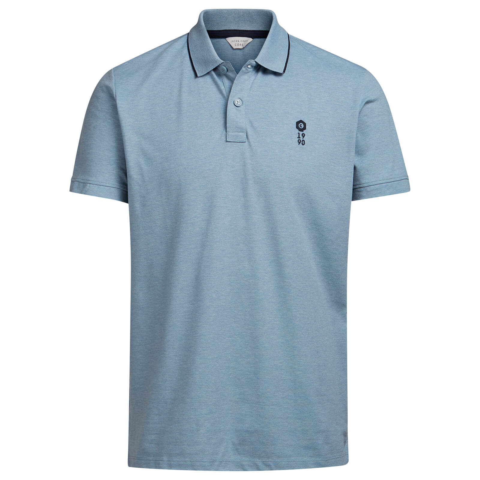 Polo Homme Core Stone Jack & Jones - Bleu Clair