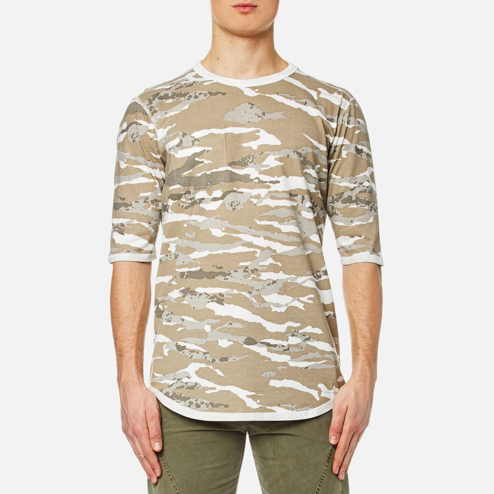 d044a42e11 Maharishi Men's Reversible Camo T-Shirt - Naturale - Free UK Delivery over  £50