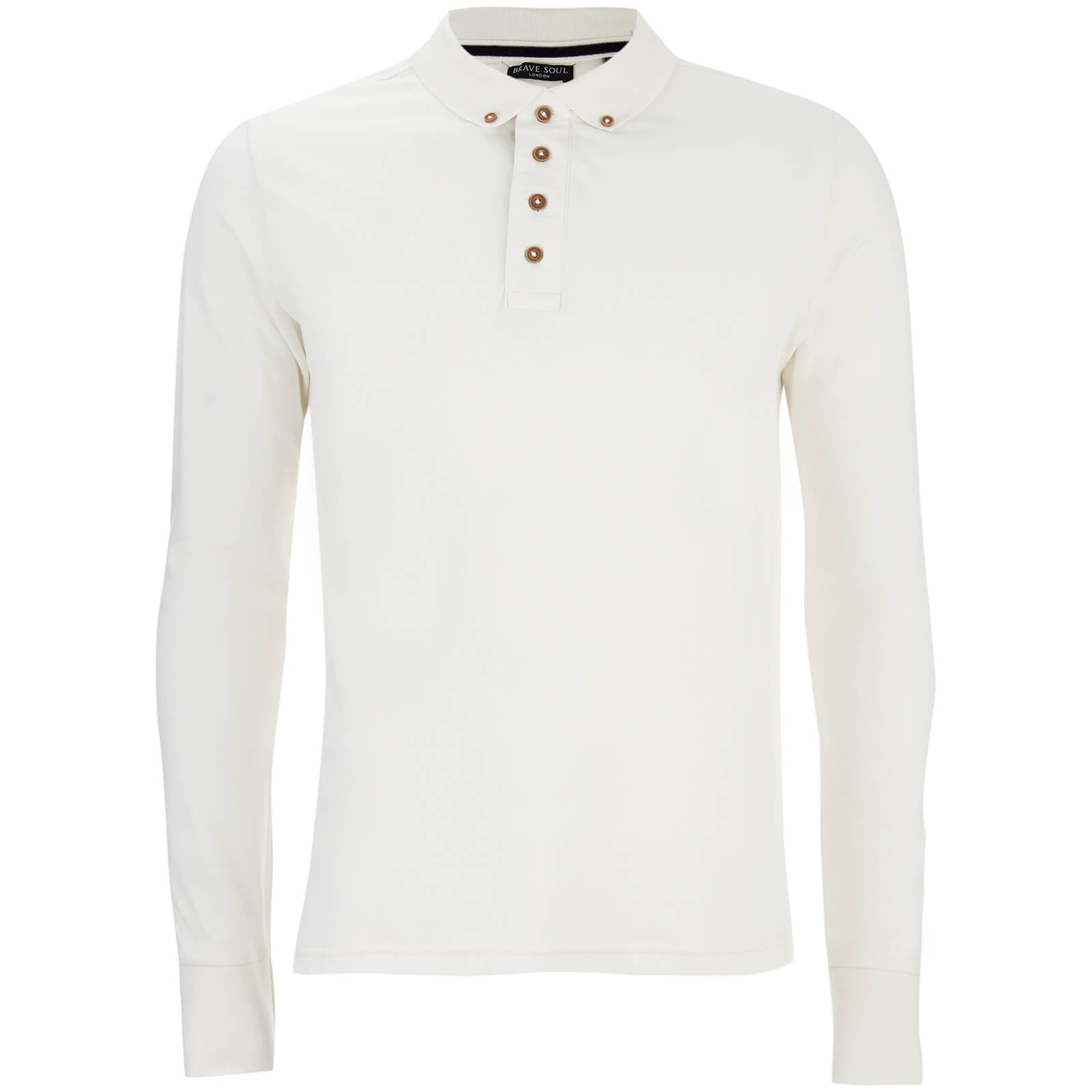 Polo à Manches Longues Lincoln - Homme Threadbare - Blanc