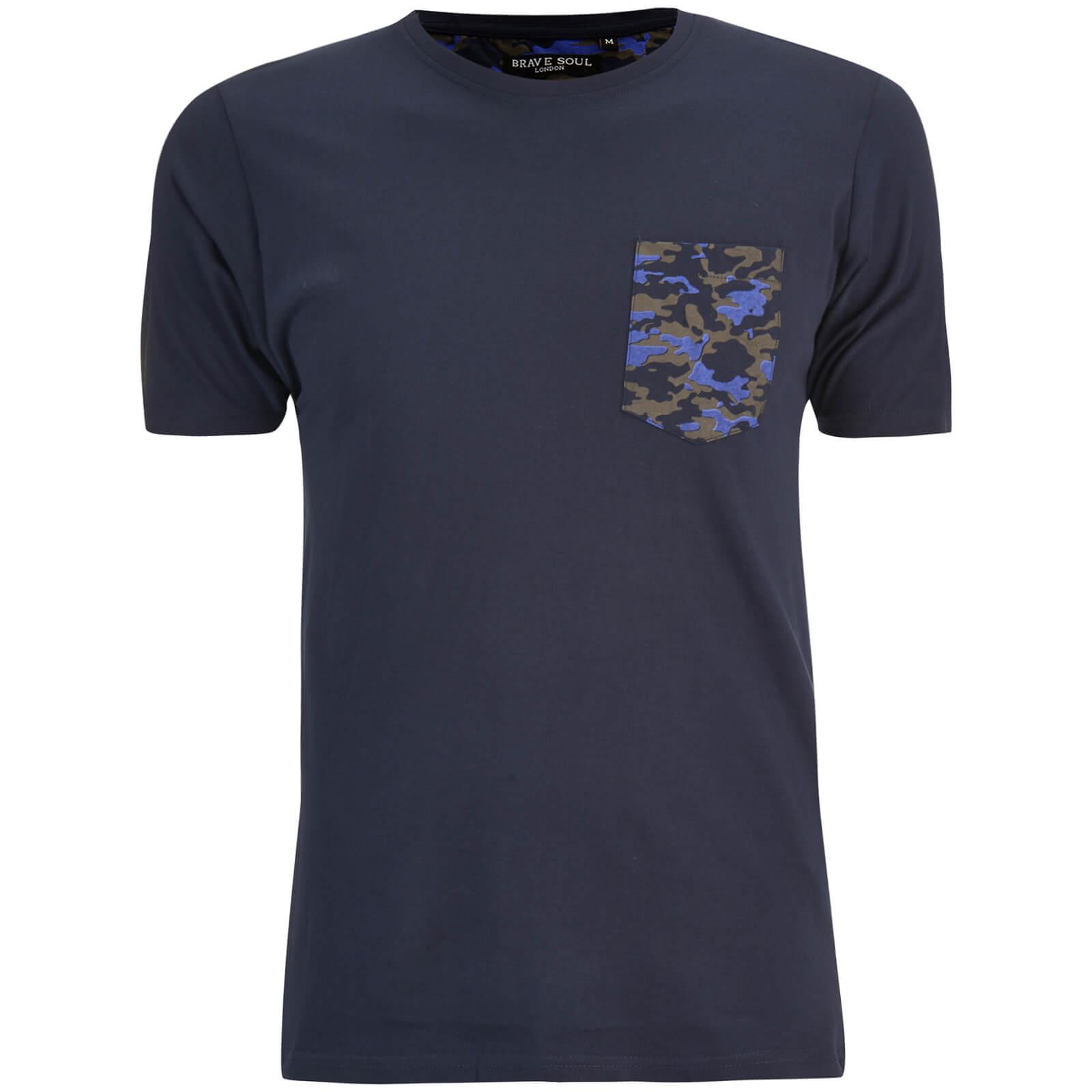 t shirt homme pulp camouflage brave soul bleu marine v tements. Black Bedroom Furniture Sets. Home Design Ideas