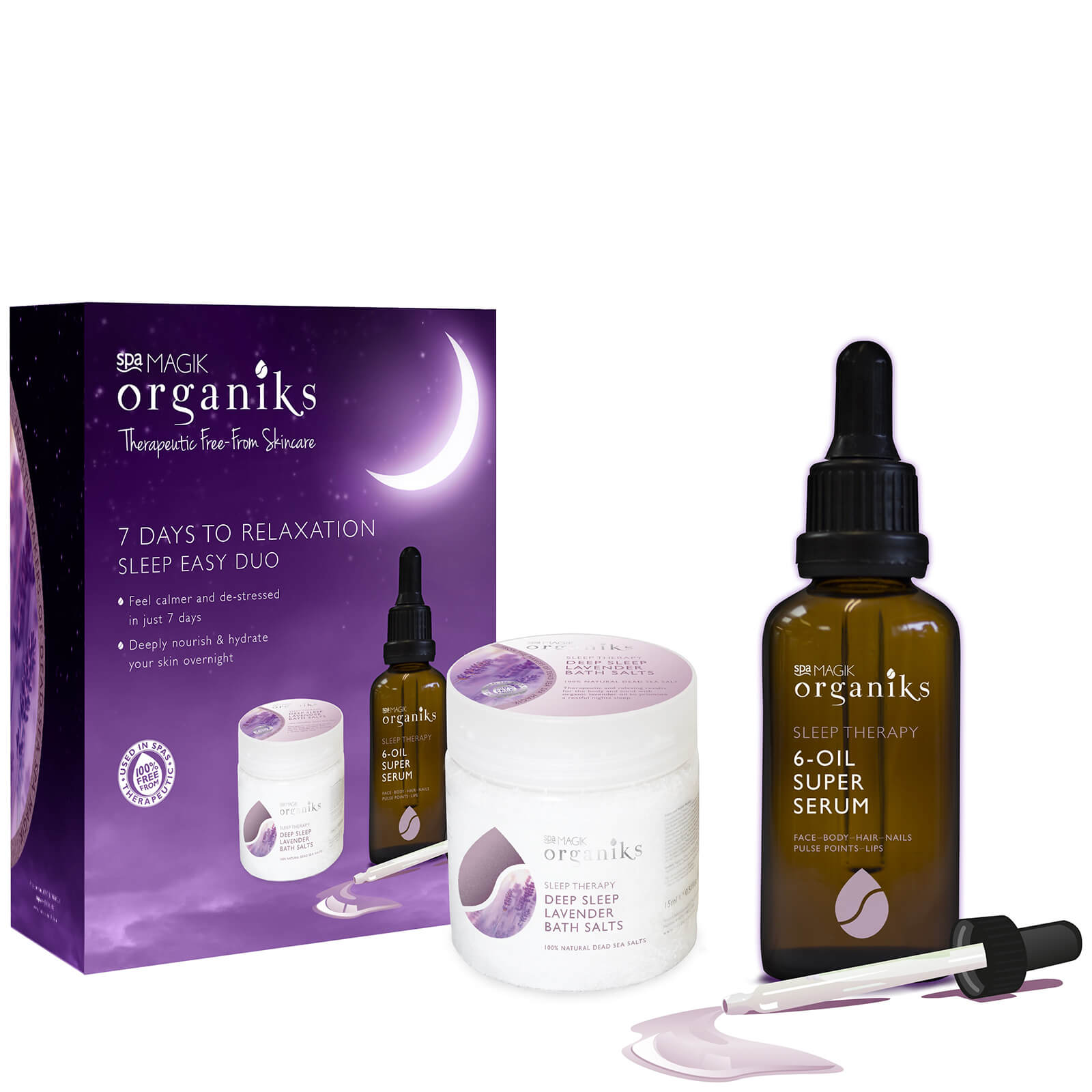 Spa Magik Organiks 7 Days to Relaxation Sleep Easy Duo
