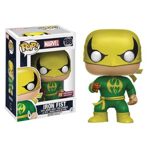 Marvel Iron Fist LE Pop! Vinyl Bobble Figure - Previews Exclusive