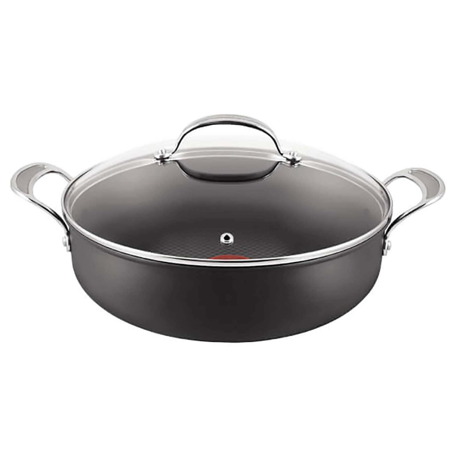 Jamie Oliver by Tefal Hard Anodised Non-Stick Shallow Pan with Lid - 30cm