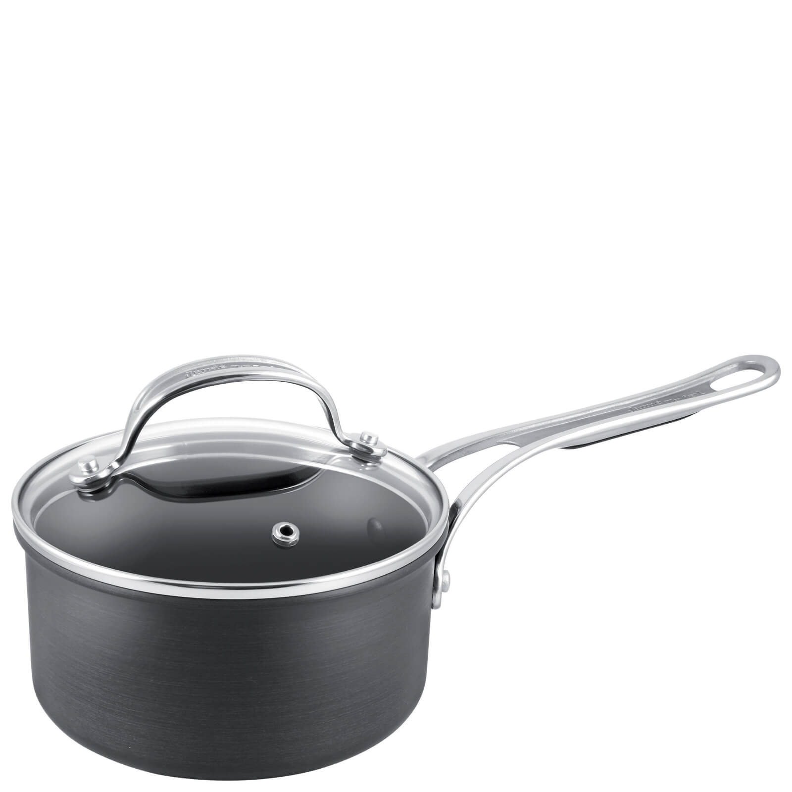 Jamie Oliver by Tefal H9022444 Hard Anodised Non-Stick Saucepan With Lid - 20cm