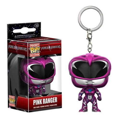 Power Rangers Movie Pink Ranger Pocket Pop! Key Chain