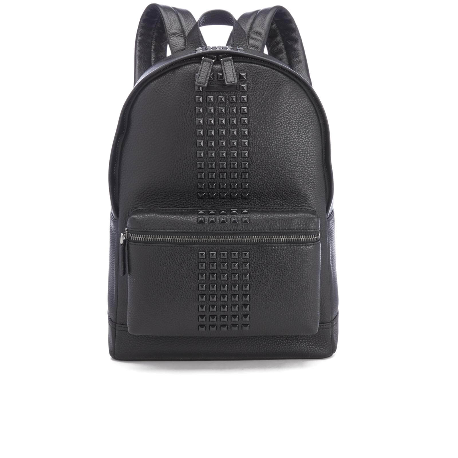 018f89f6beb51 Michael Kors Men s Bryant Pebble Leather Studded Backpack - Black - Free UK  Delivery over £50