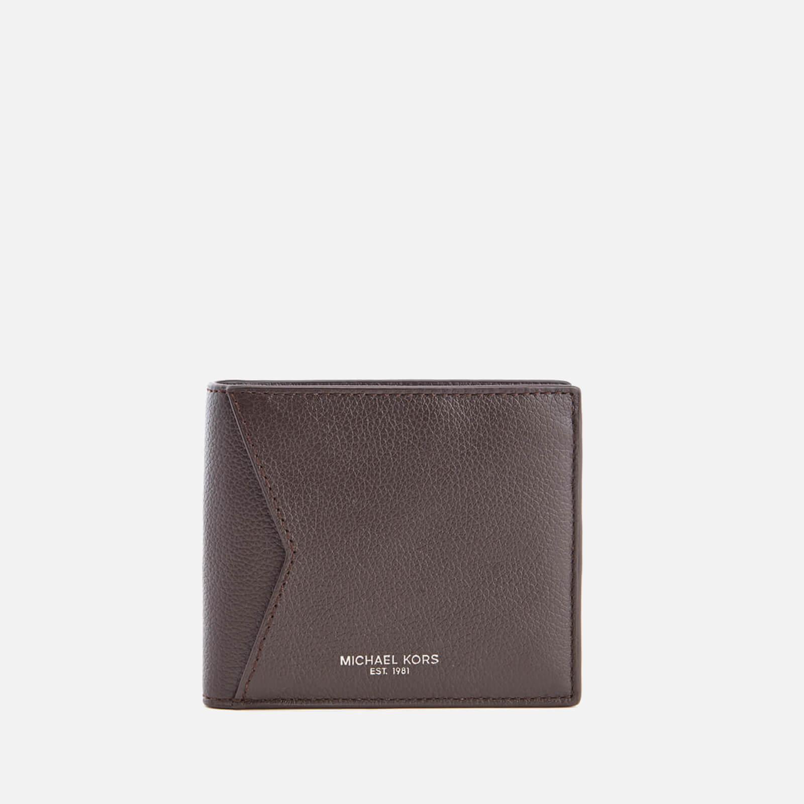 7b65647b49d802 ... Michael Kors Men's Bryant Billfold Wallet with Coin Pocket - Brown