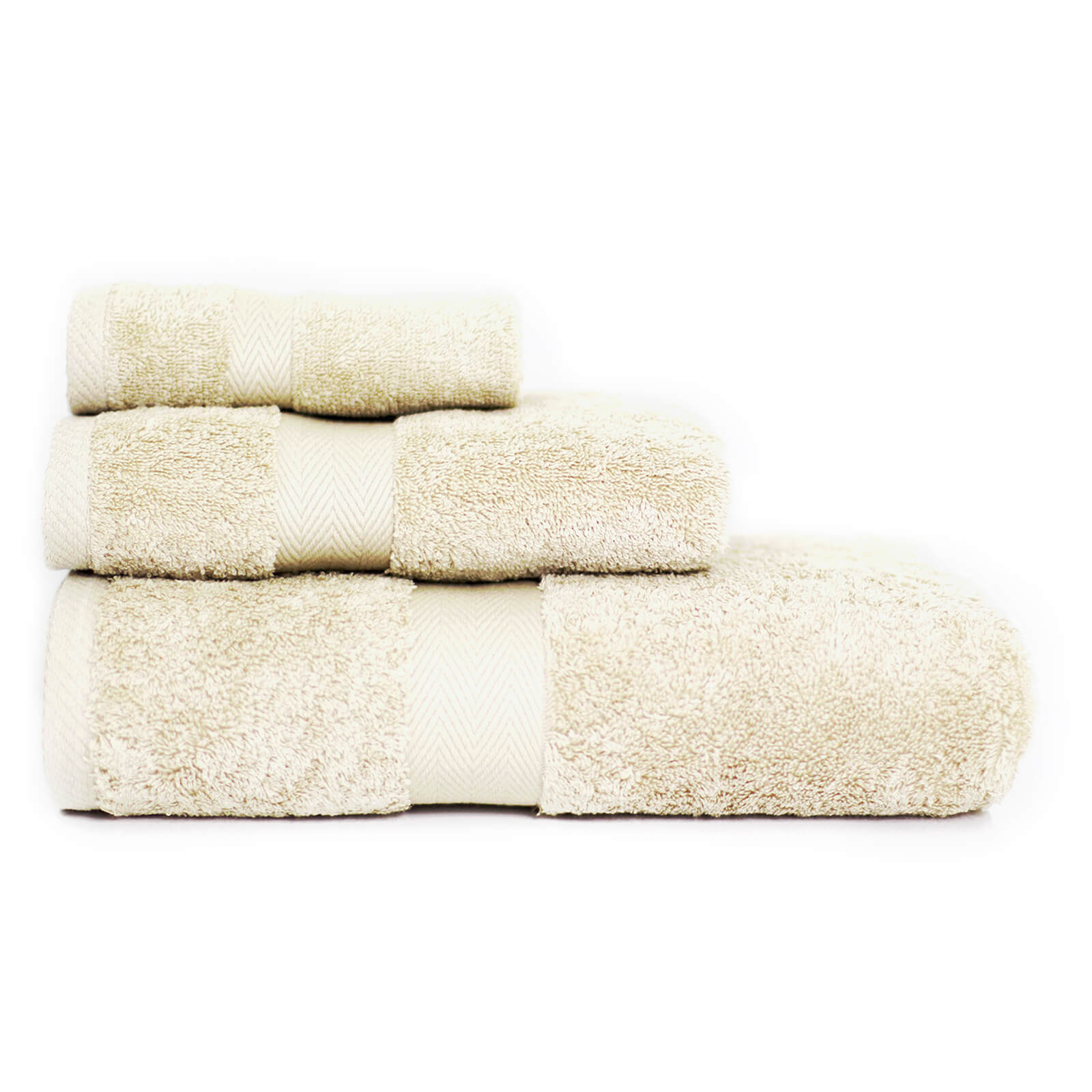 Restmor 100% Egyptian Cotton 3 Piece Luxury Towel Bale (600GSM) - Ivory