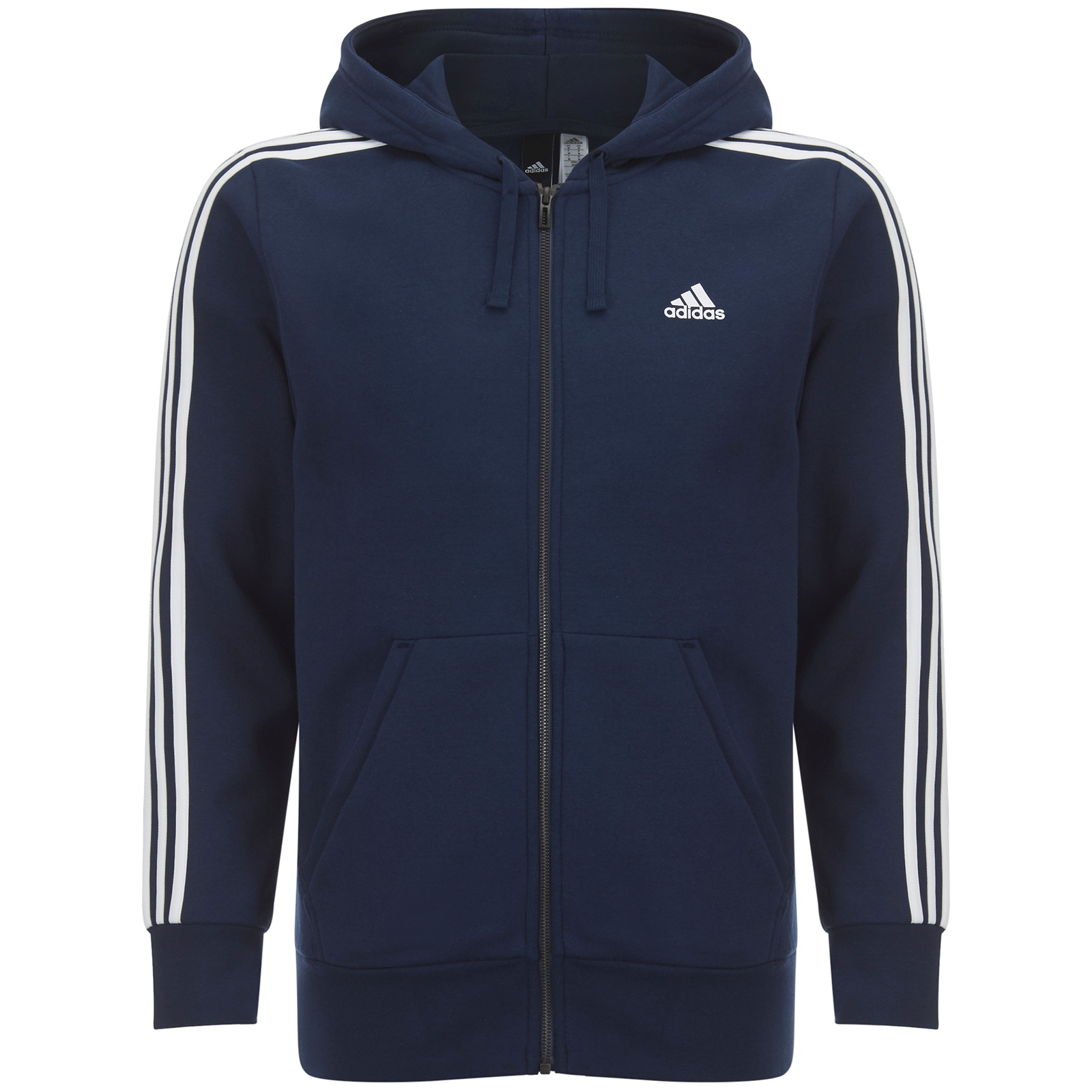 adidas essentials 3-stripes sweat-shirt bleu marine homme
