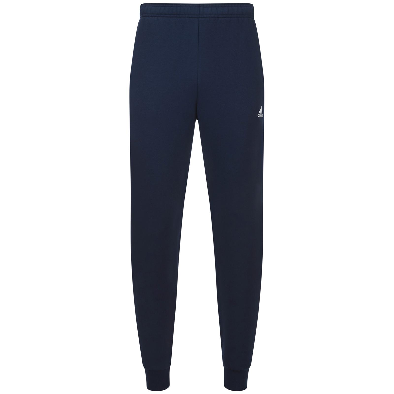 more photos 4283d 3558f adidas Men s Essential Logo Cuffed Fleece Sweatpants - Navy Clothing    Zavvi Australia