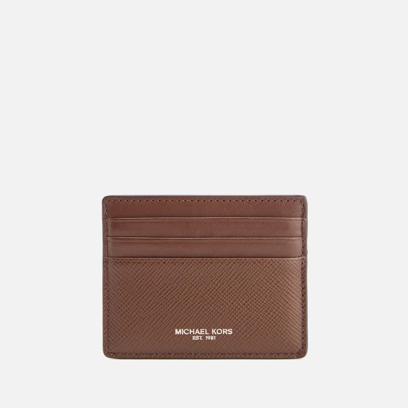 hot sale online 29376 4ffca Michael Kors Men's Harrison Tall Card Case - Mocha