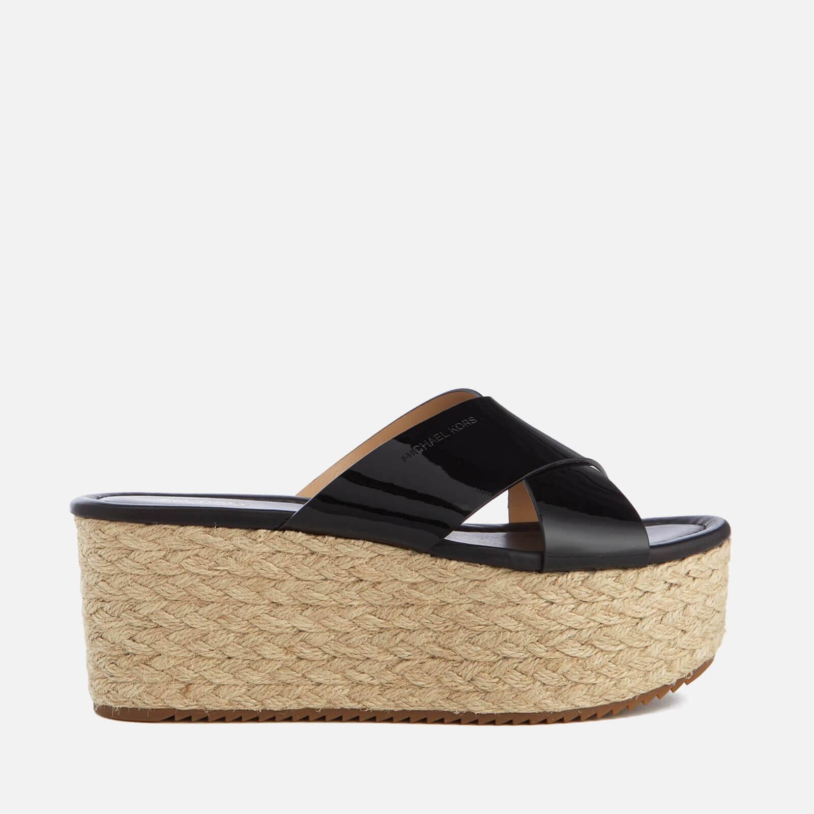 9f11950c923 MICHAEL MICHAEL KORS Women's Vivianna Slide Wedged Sandals - Black Patent