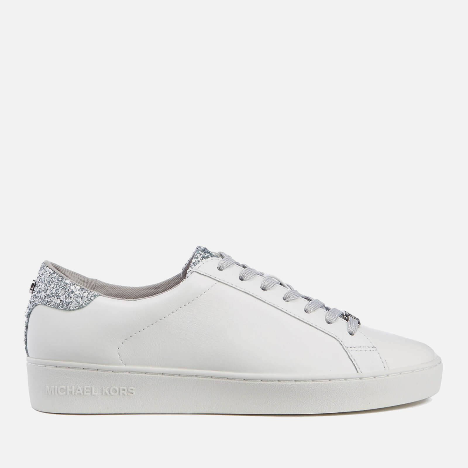 8fb3dc817f0c ... MICHAEL MICHAEL KORS Women s Irving Lace Up Court Trainers - Optic  White Silver