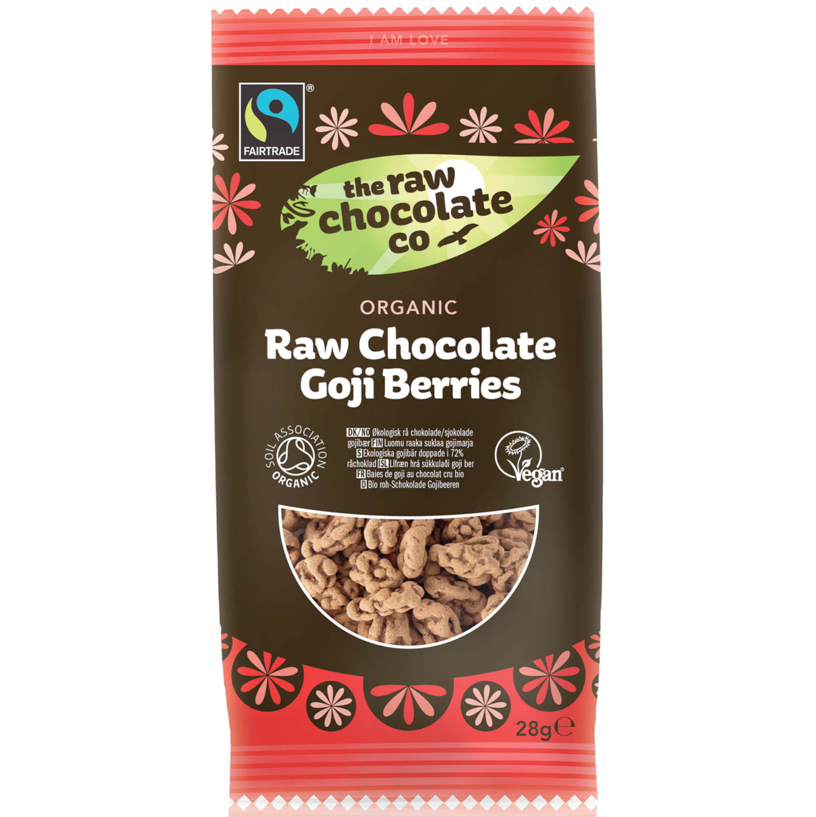 The Raw Chocolate Company Organic Raw Chocolate Goji Berries Snack Pack