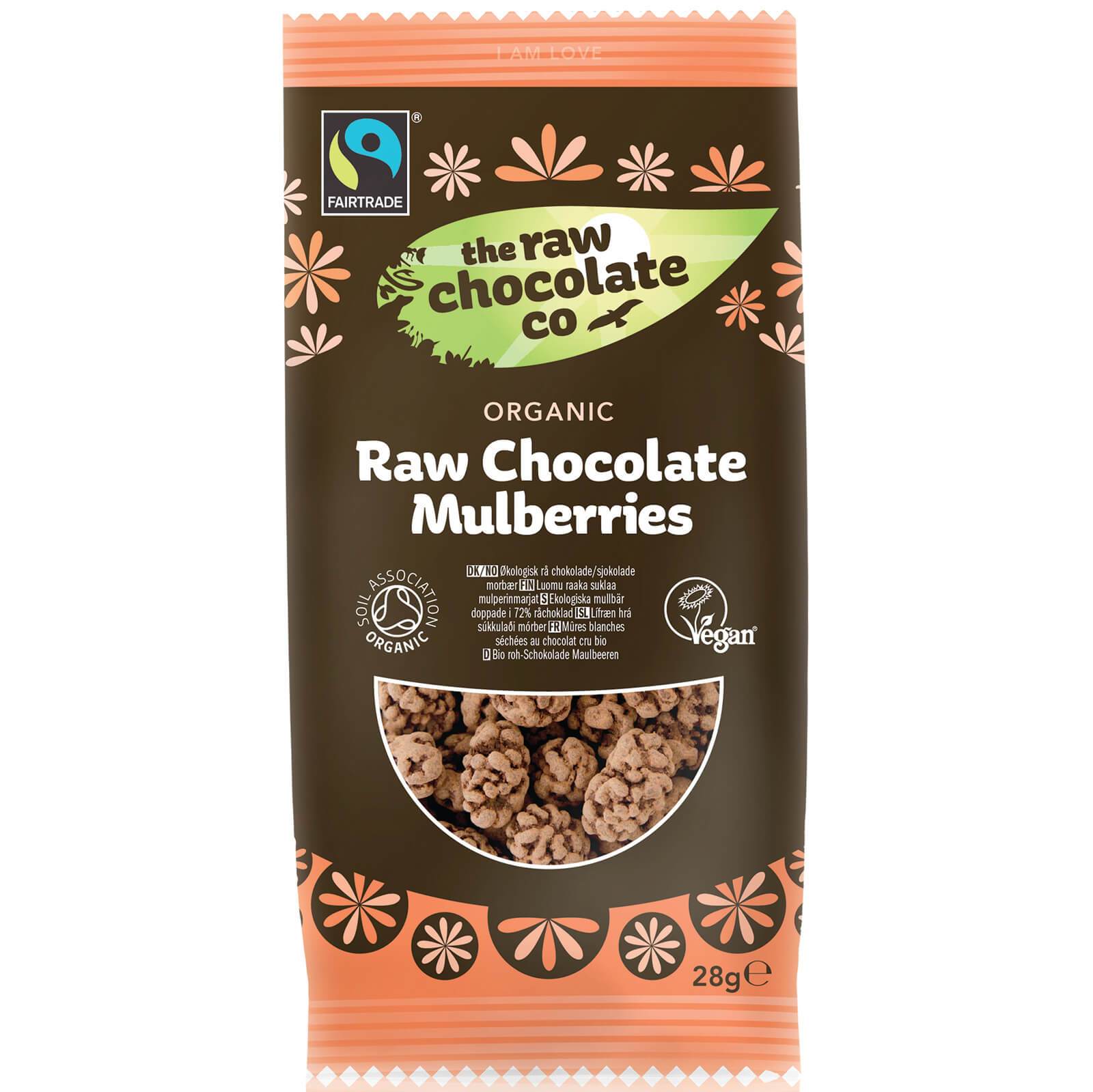 The Raw Chocolate Company Organic Raw Chocolate Mulberries Snack Pack