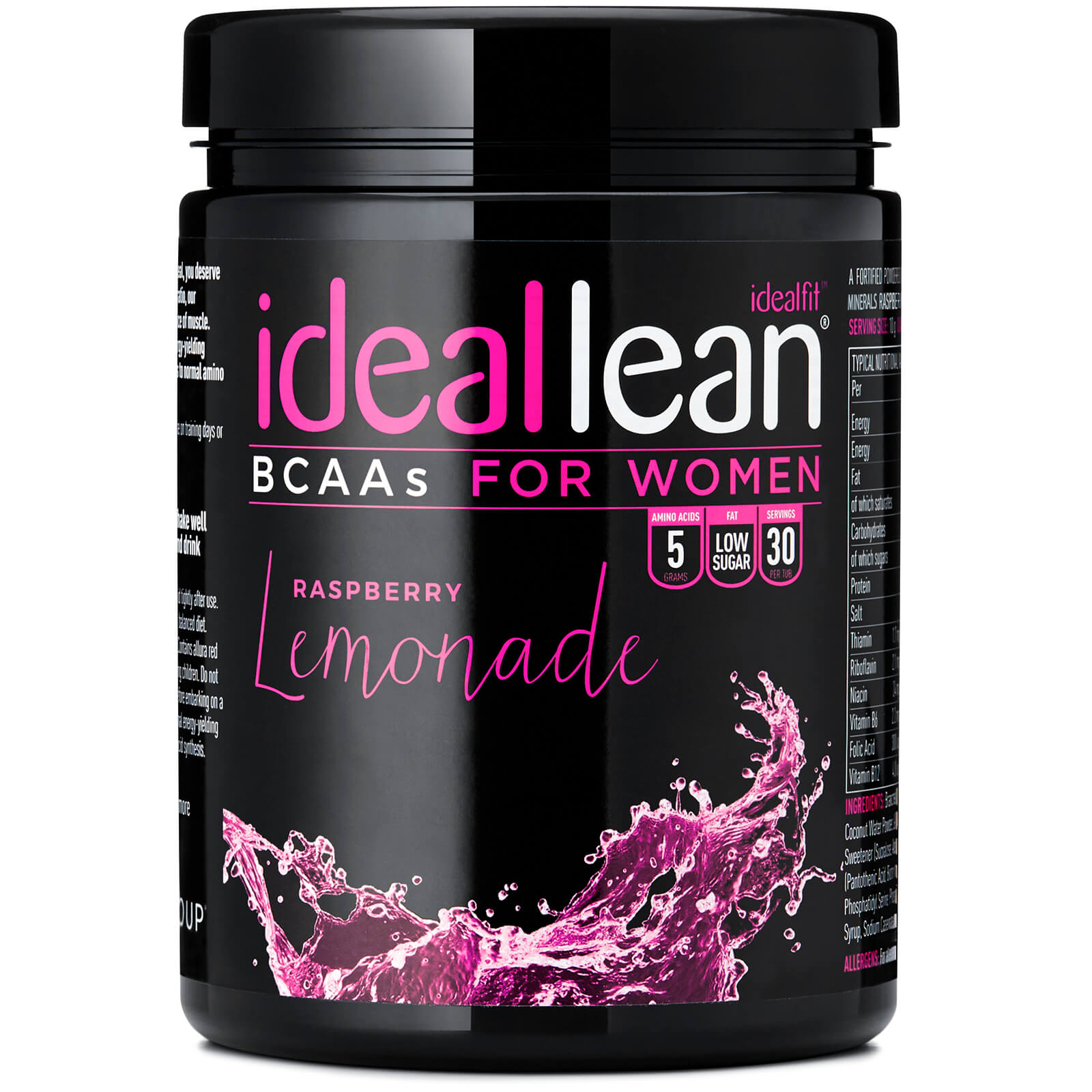 IdealLean BCAA - Raspberry Lemonade
