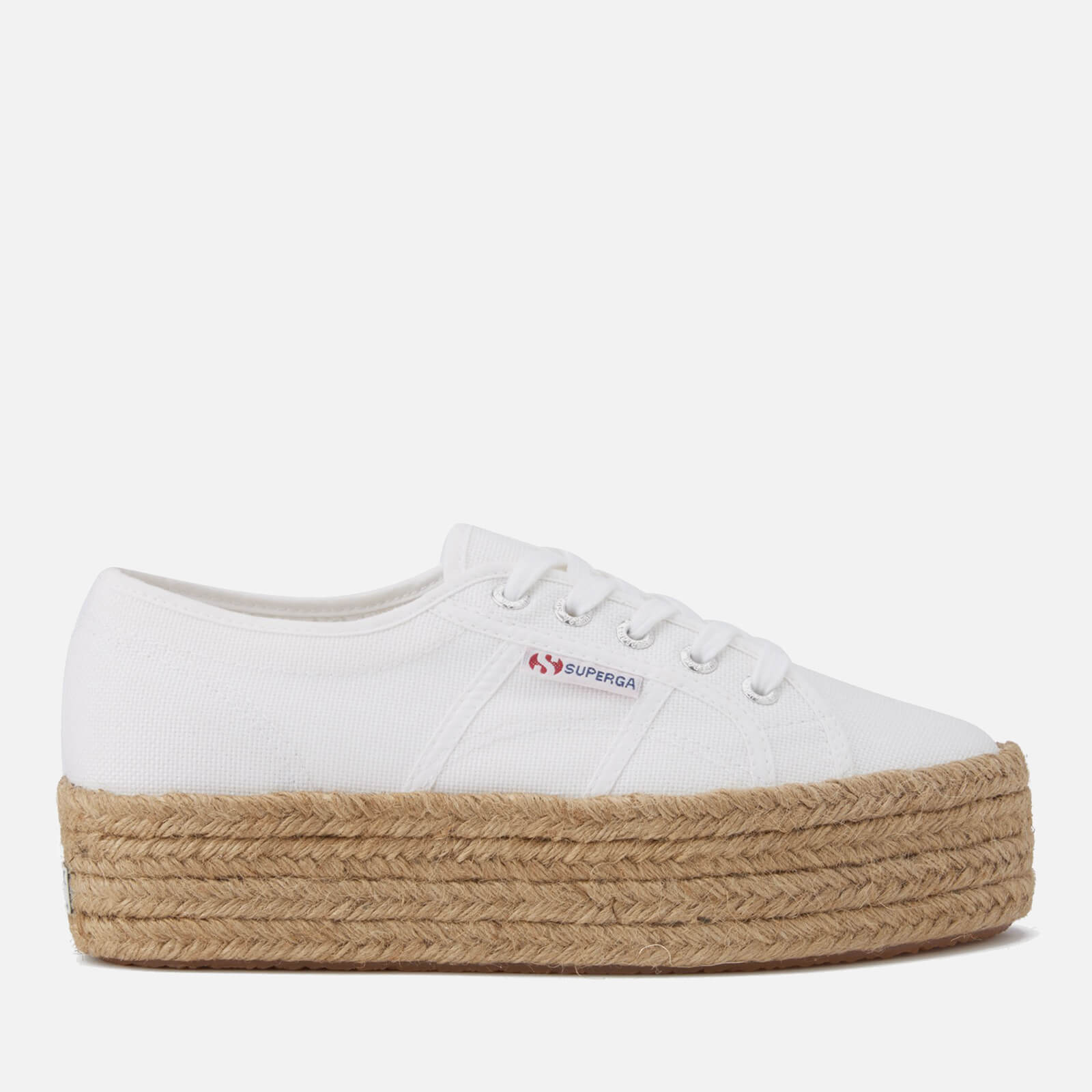 ba72e3638f1b4 Superga Women's 2790 Cotropew Flatform Espadrille Trainers - White - Free  UK Delivery over £50