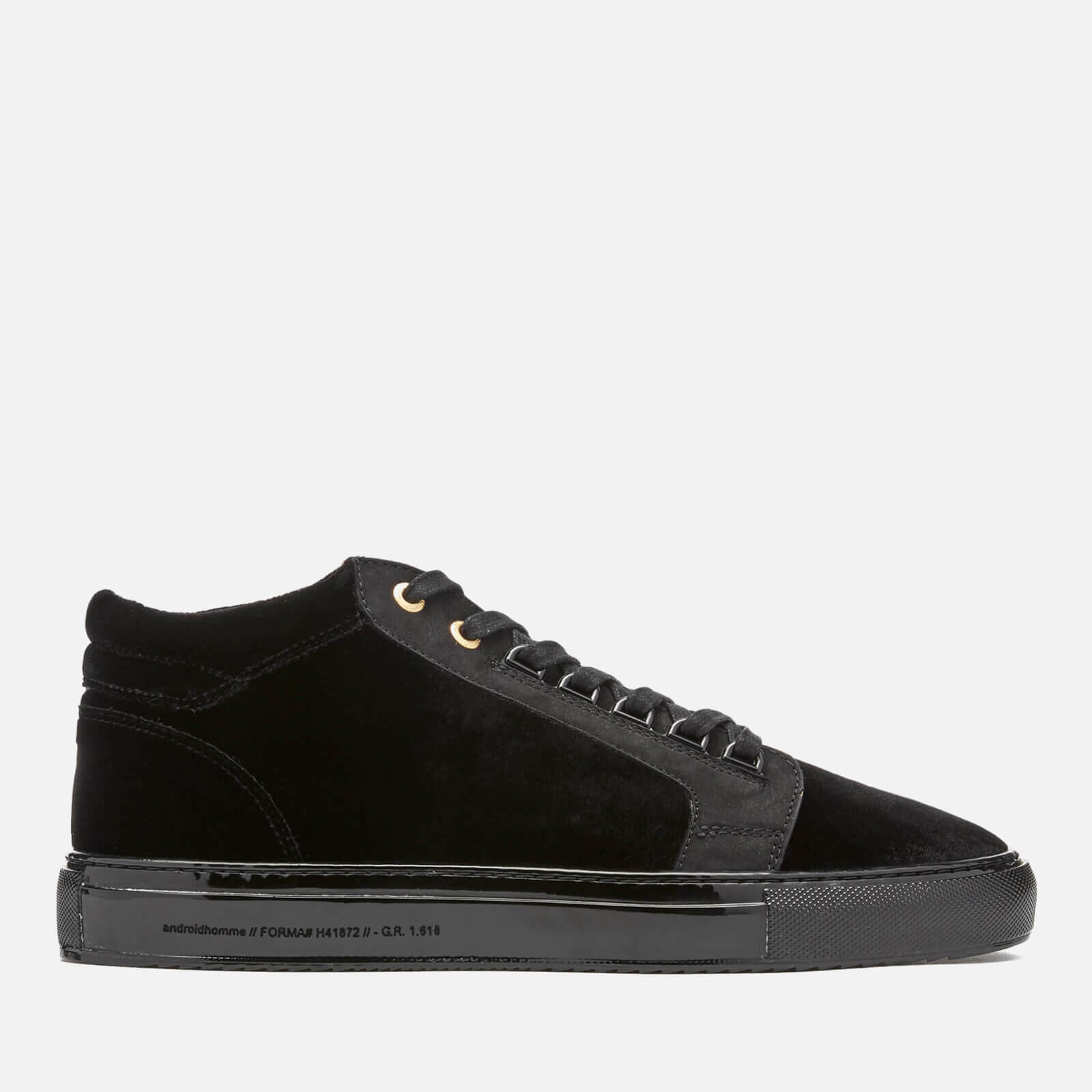99b45f8ba80 Android Homme Men s Propulsion Mid Velvet Trainers - Black - Free UK  Delivery over £50