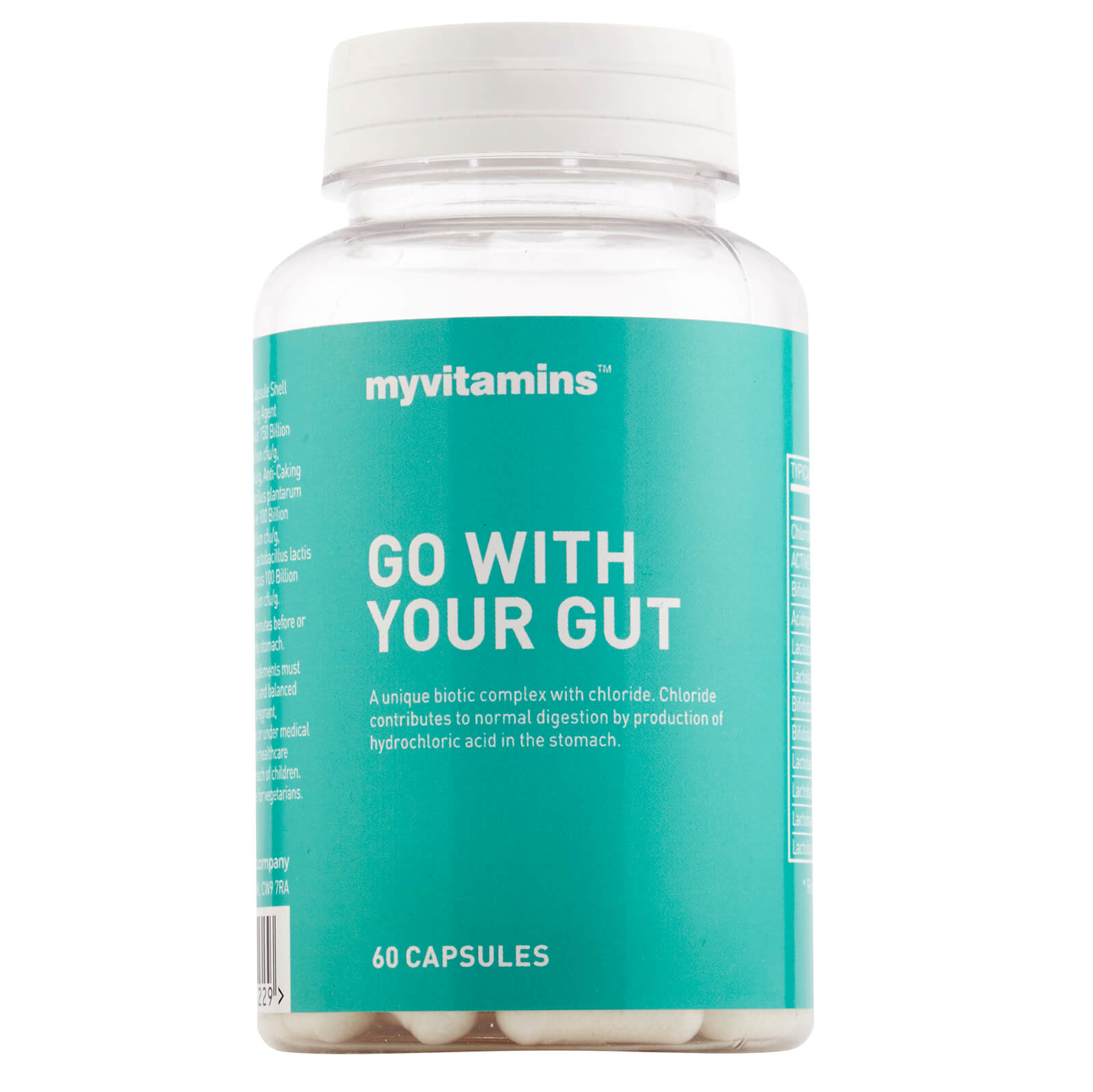Myvitamins Go With Your Gut, 60 Capsules