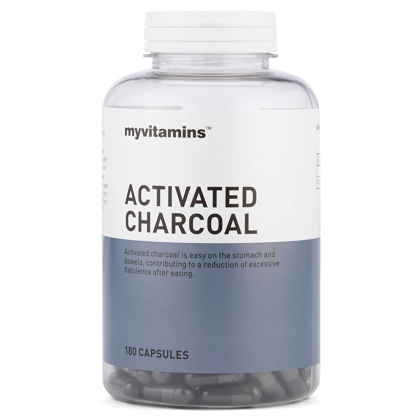 Myvitamins Activated Charcoal, 180 Tablets