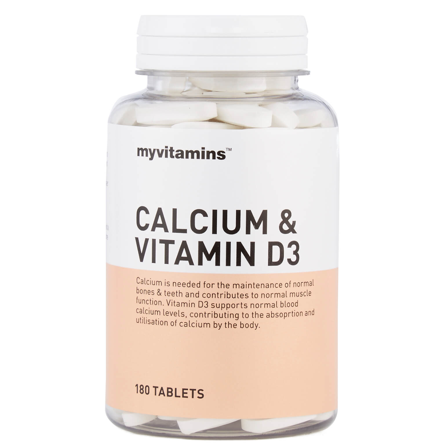 Myvitamins Calcium & Vitamin D3, 60 Tablets