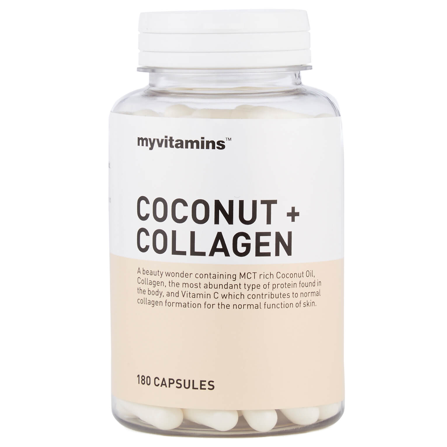 Myvitamins Coconut + Collagen, 60 Capsules
