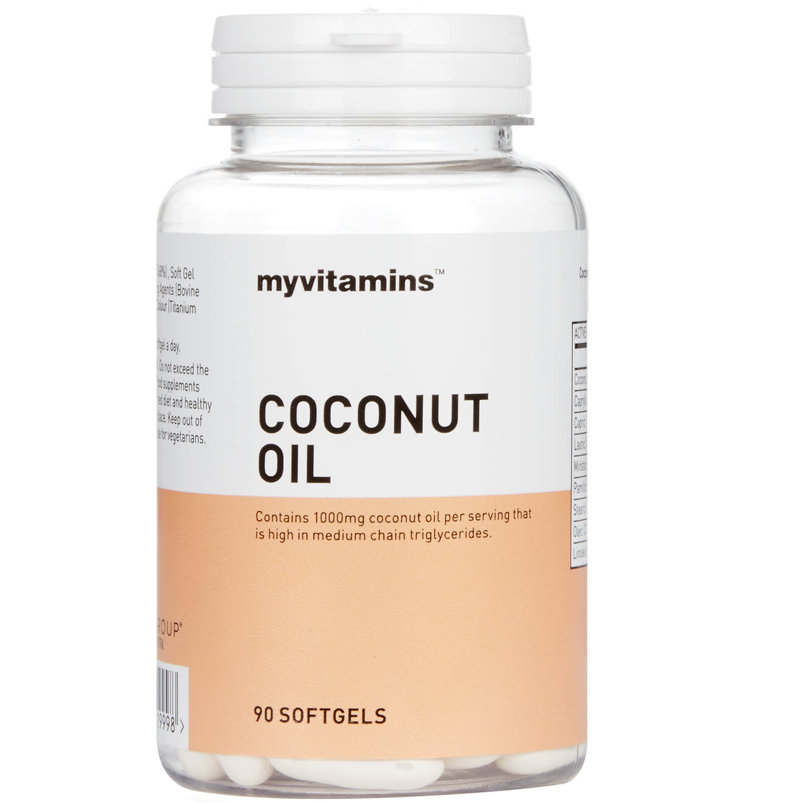 Myvitamins Coconut Oil, 30 Softgels