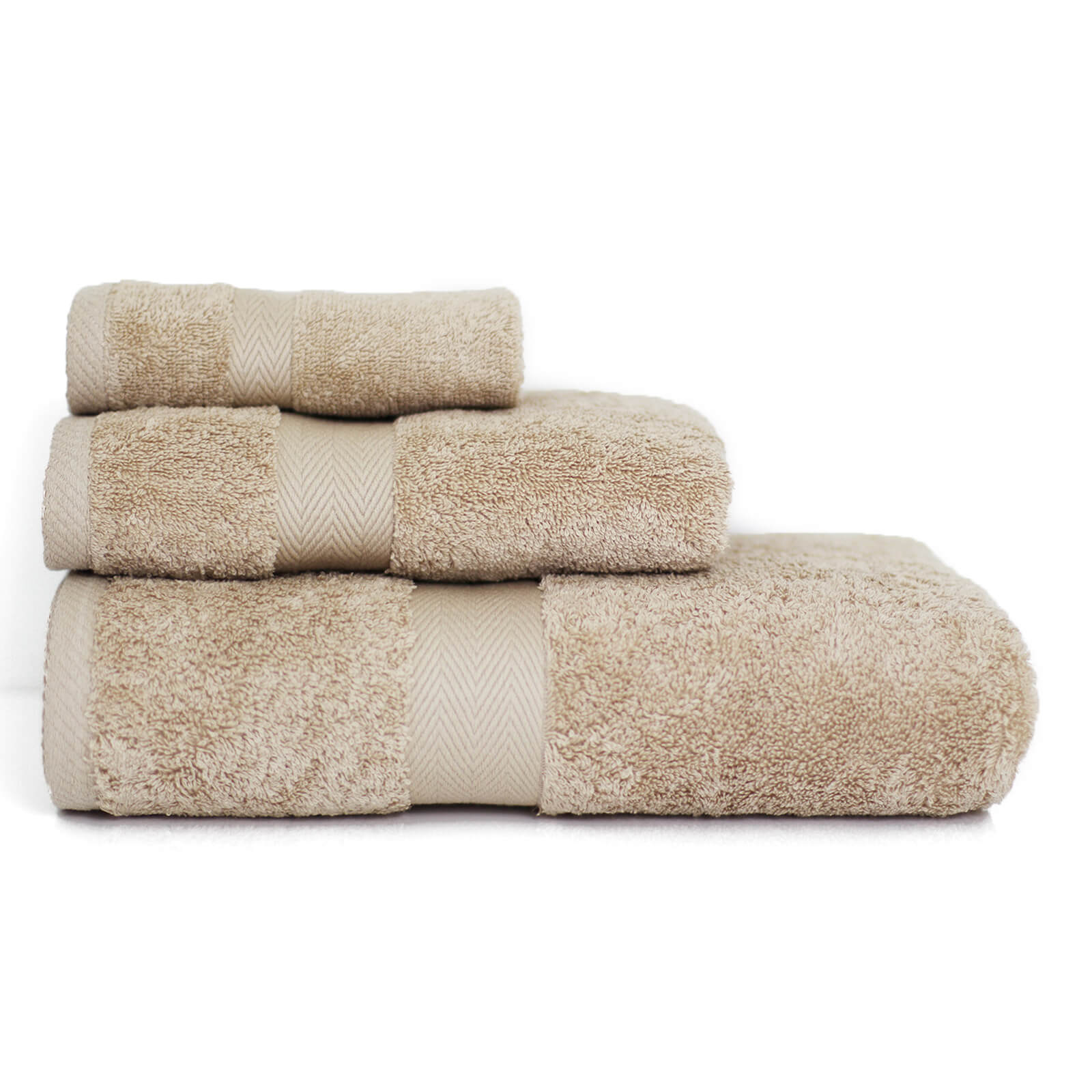 Restmor 100% Egyptian Cotton 3 Piece Luxury Towel Bale (600GSM) - Latte